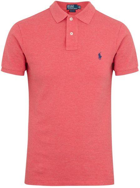 Polo Ralph Lauren Salmon Piqu Cotton Polo Shirt In Pink