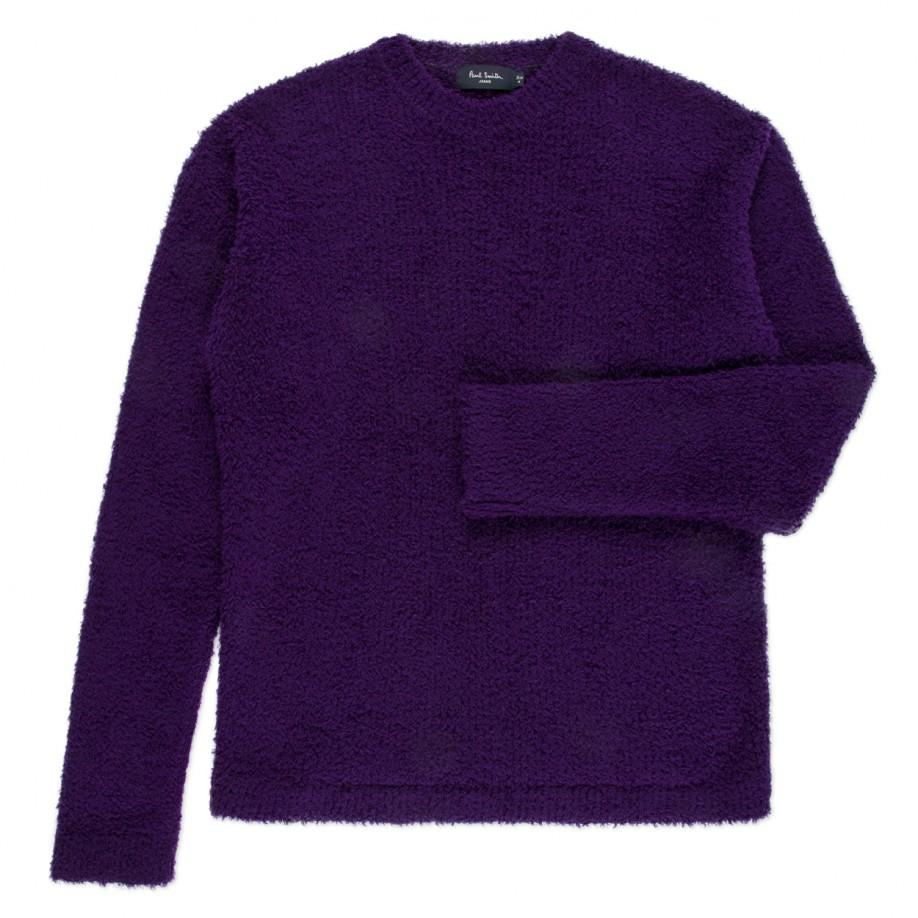 Paul smith Men's Purple Wool-blend Textured Sweater in Purple for ...