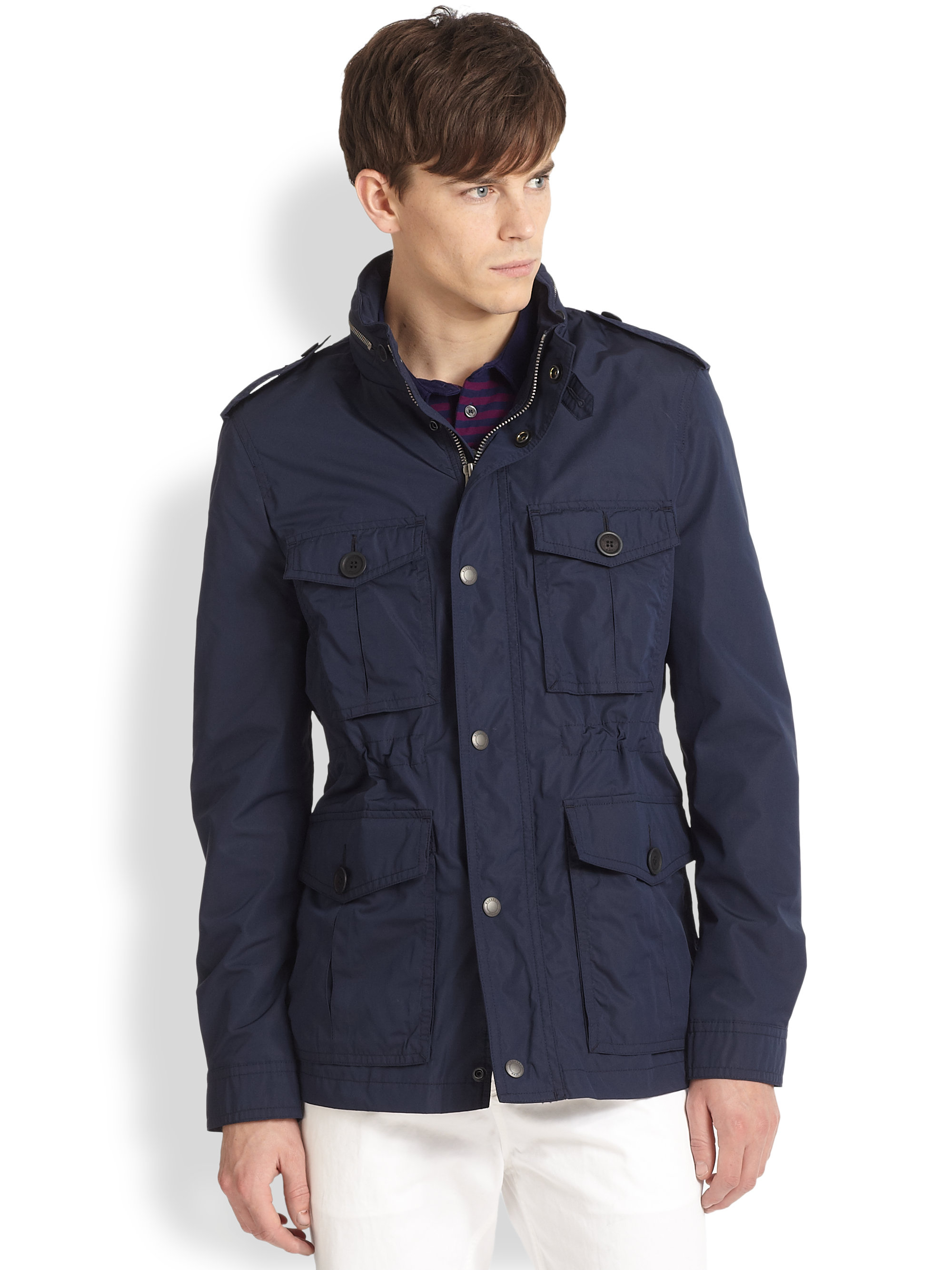 Navy Blue Utility Jacket