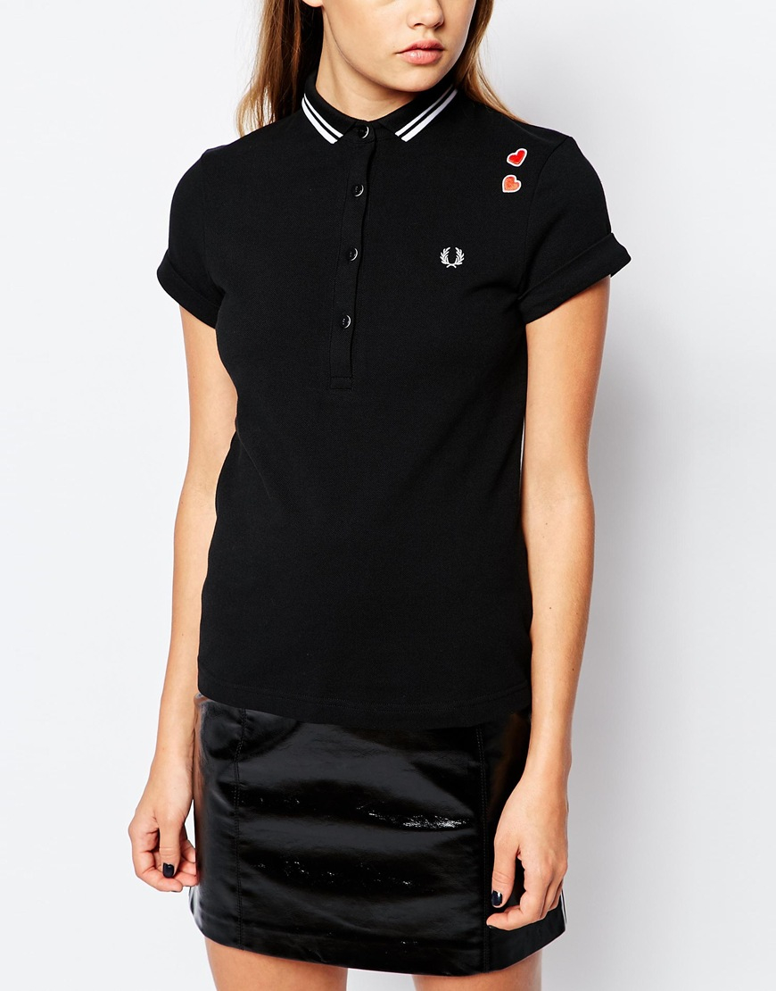 Fred perry Amy Winehouse Collection Polo Shirt in Black