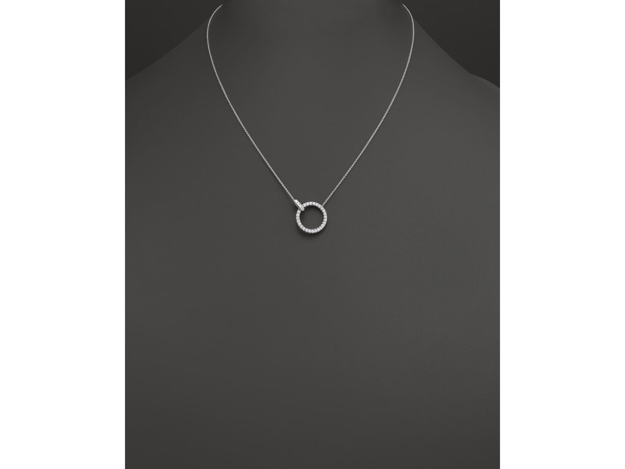 efd0d3054f2 Roberto Coin Diamond Circle Pendant - Pendant Design Ideas