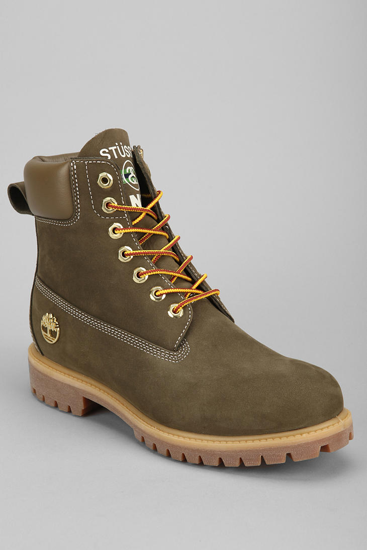 Lyst - Urban Outfitters Timberland X Stussy Boot in Green for Men 56044a8ea47d