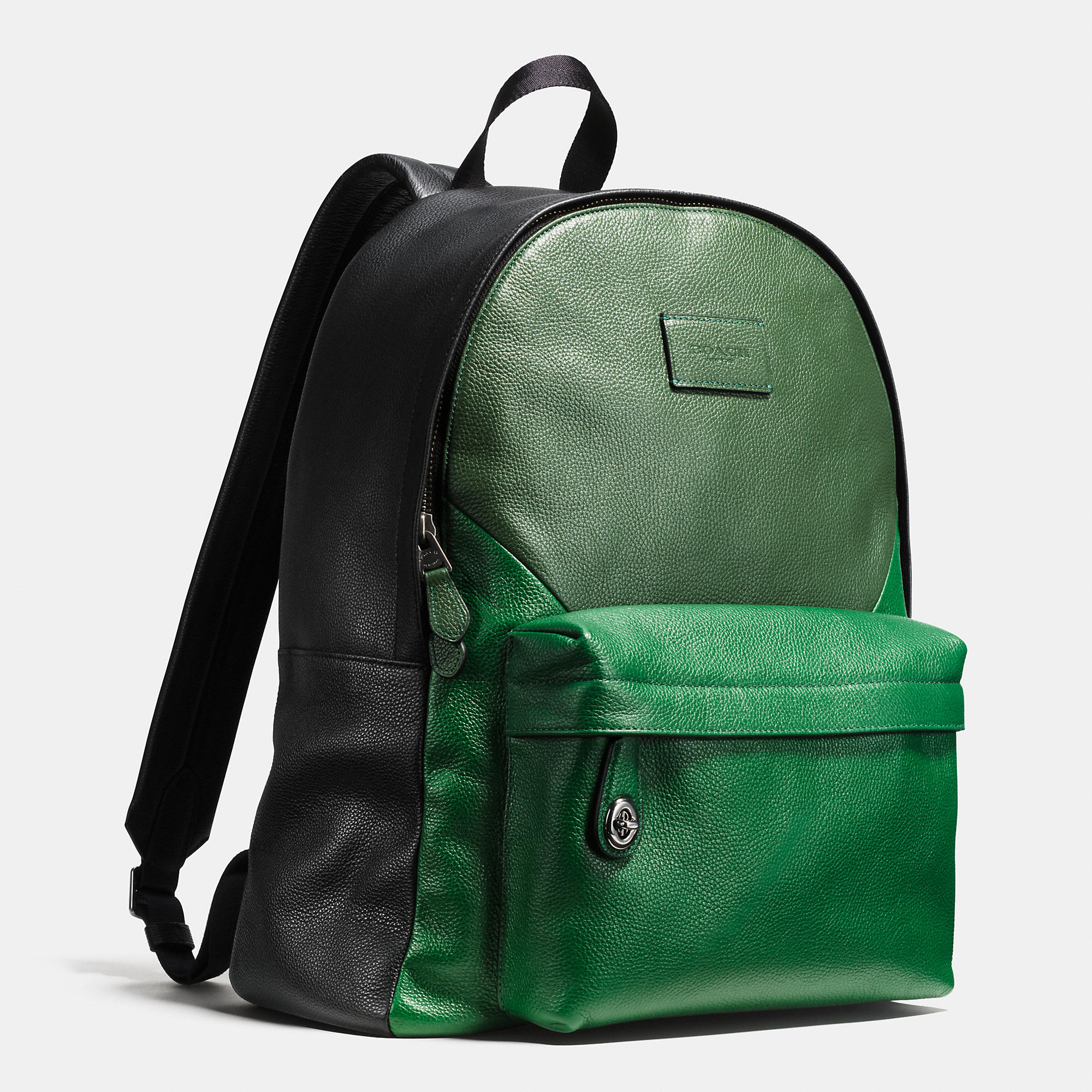 80071a27f ... best lyst coach campus backpack in patchwork pebble leather in green  1ed4b b4632
