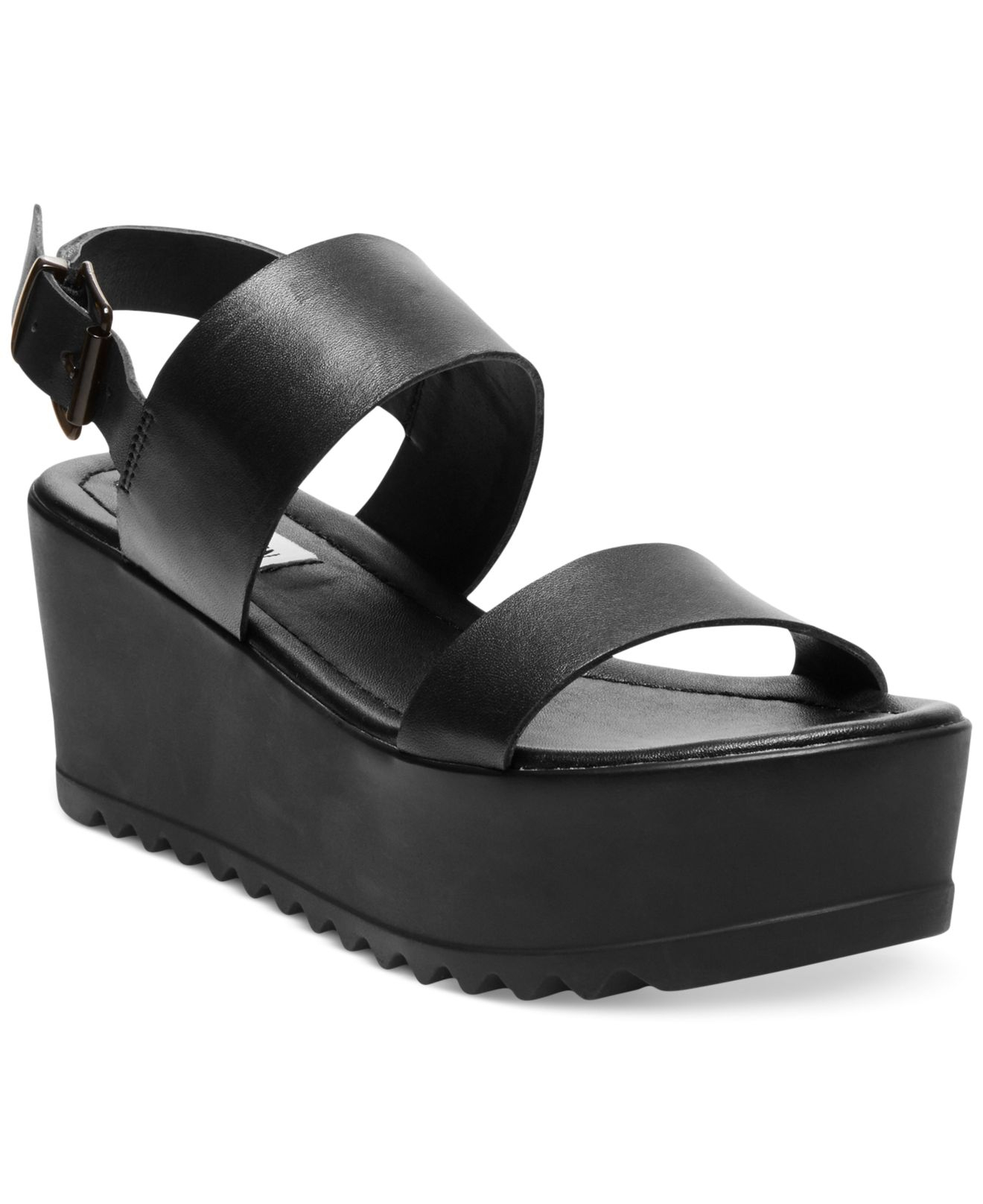 d33d908bd95c2 Lyst - Steve Madden Women S Wave Two-Piece Platform Wedge Sandals in ...