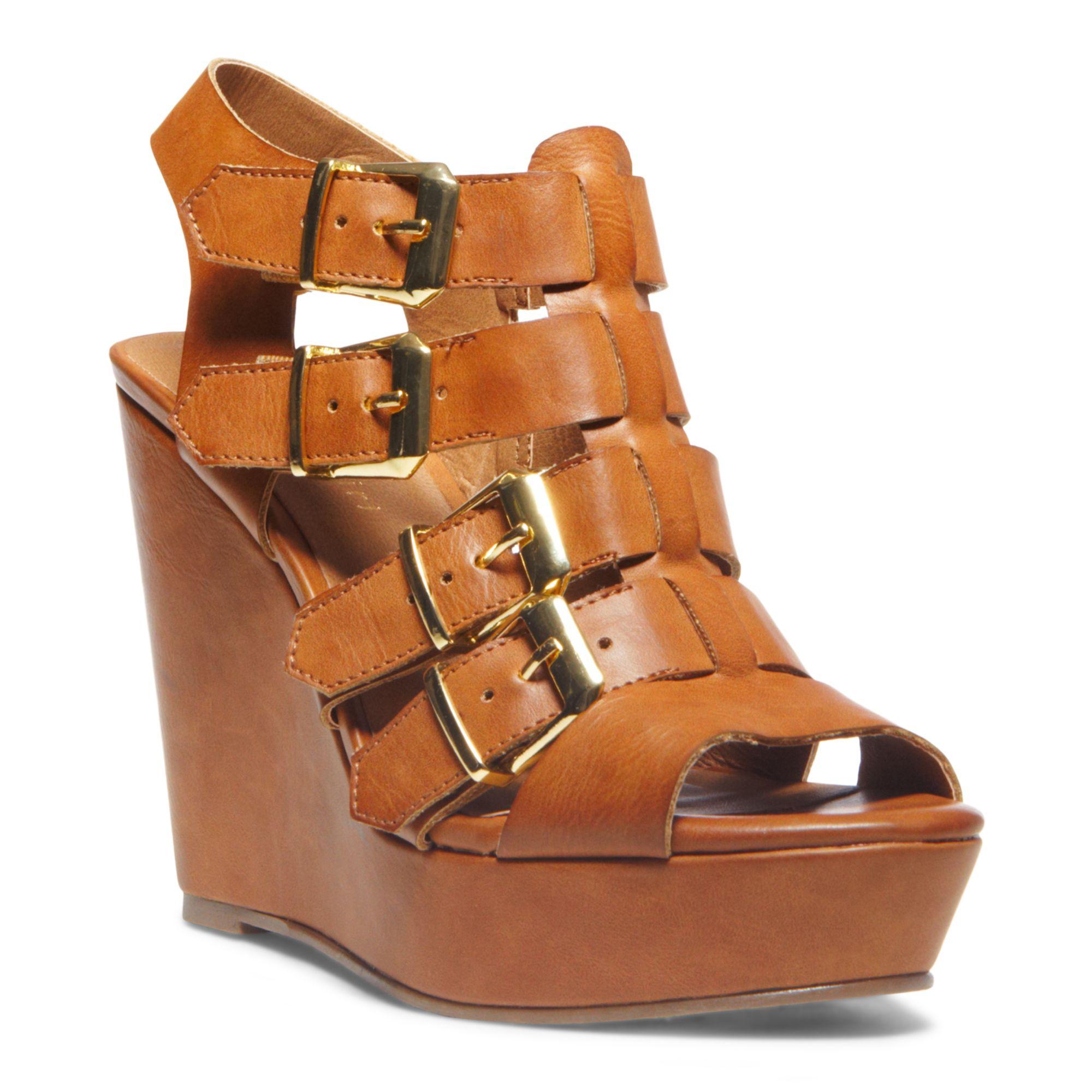 Madden girl Kloverr Platform Wedge Sandals in Brown
