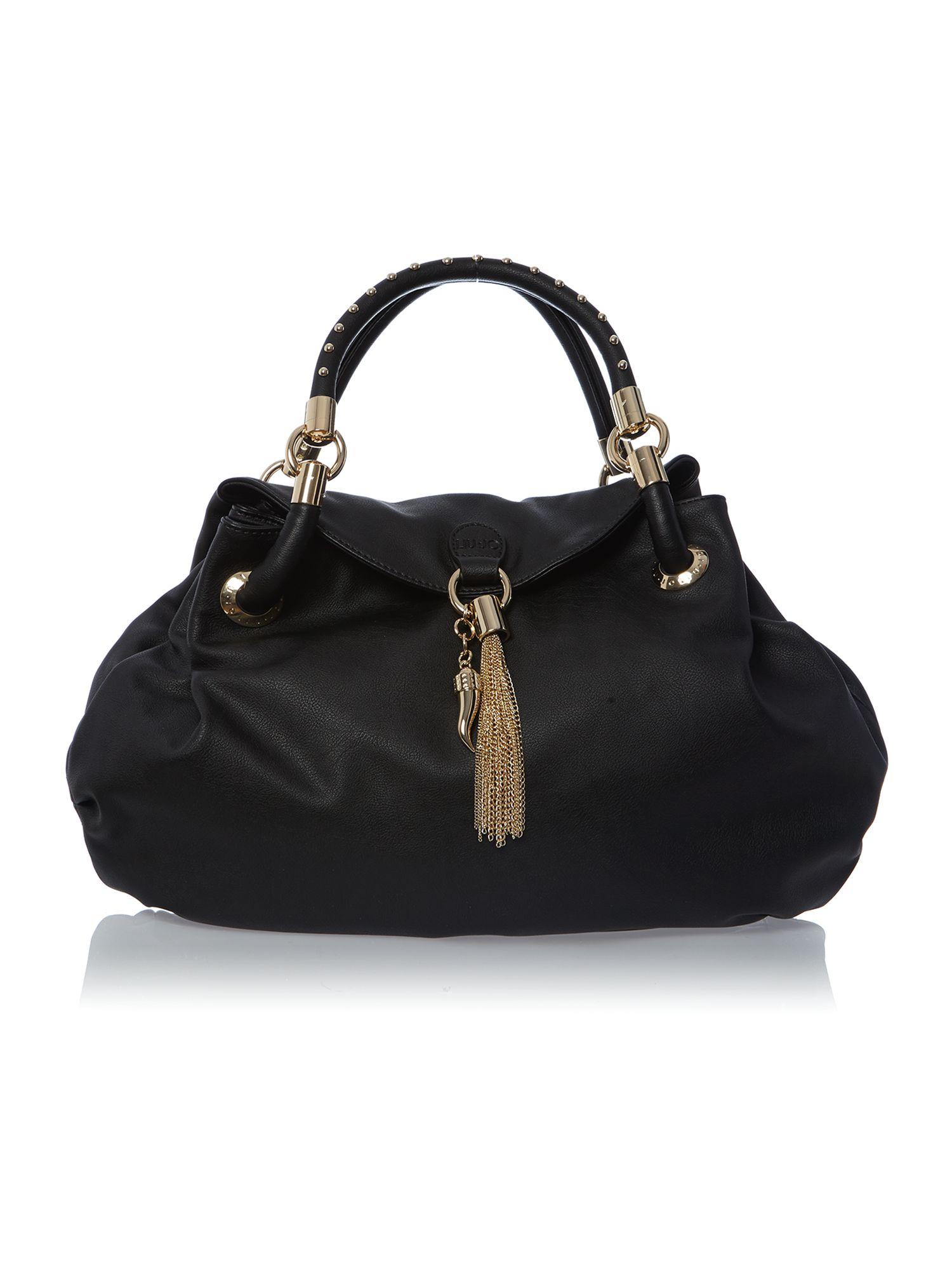 Liu jo Sophia Black Hobo Bag in Black | Lyst