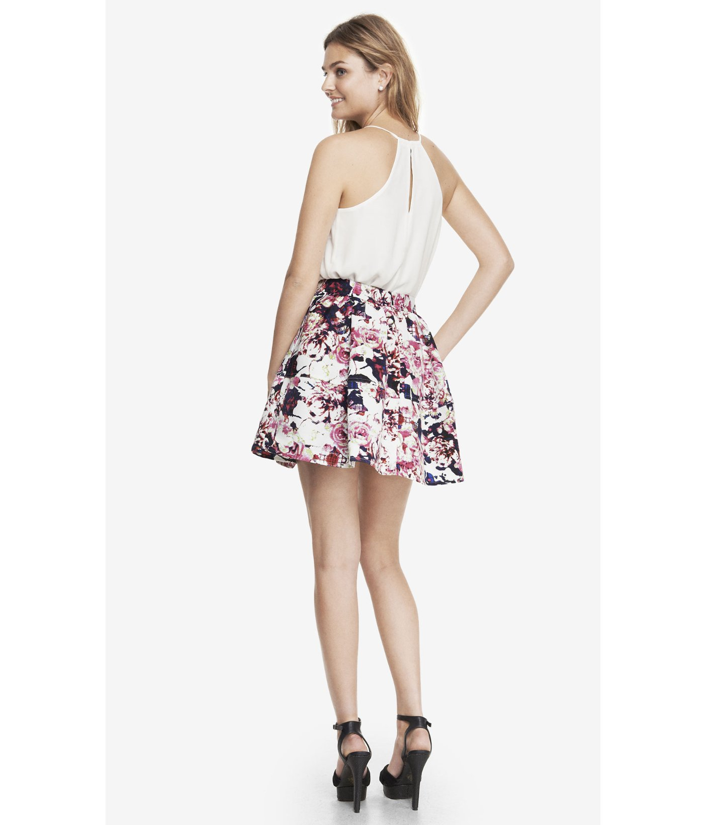 to wear - Waisted high floral skirt video