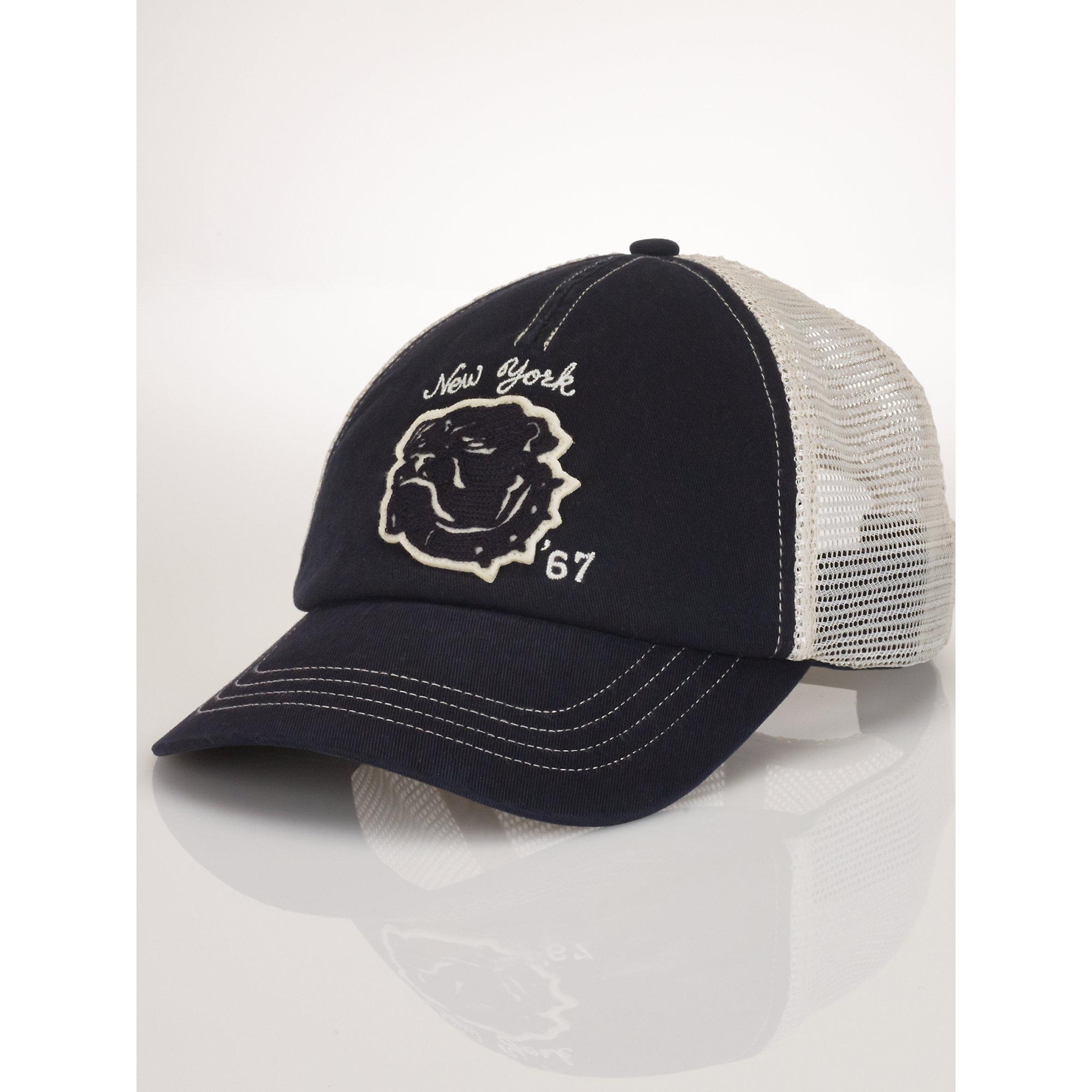 Lyst - Polo Ralph Lauren Mesh Utility Trucker Cap in Black for Men 1fa2368f154