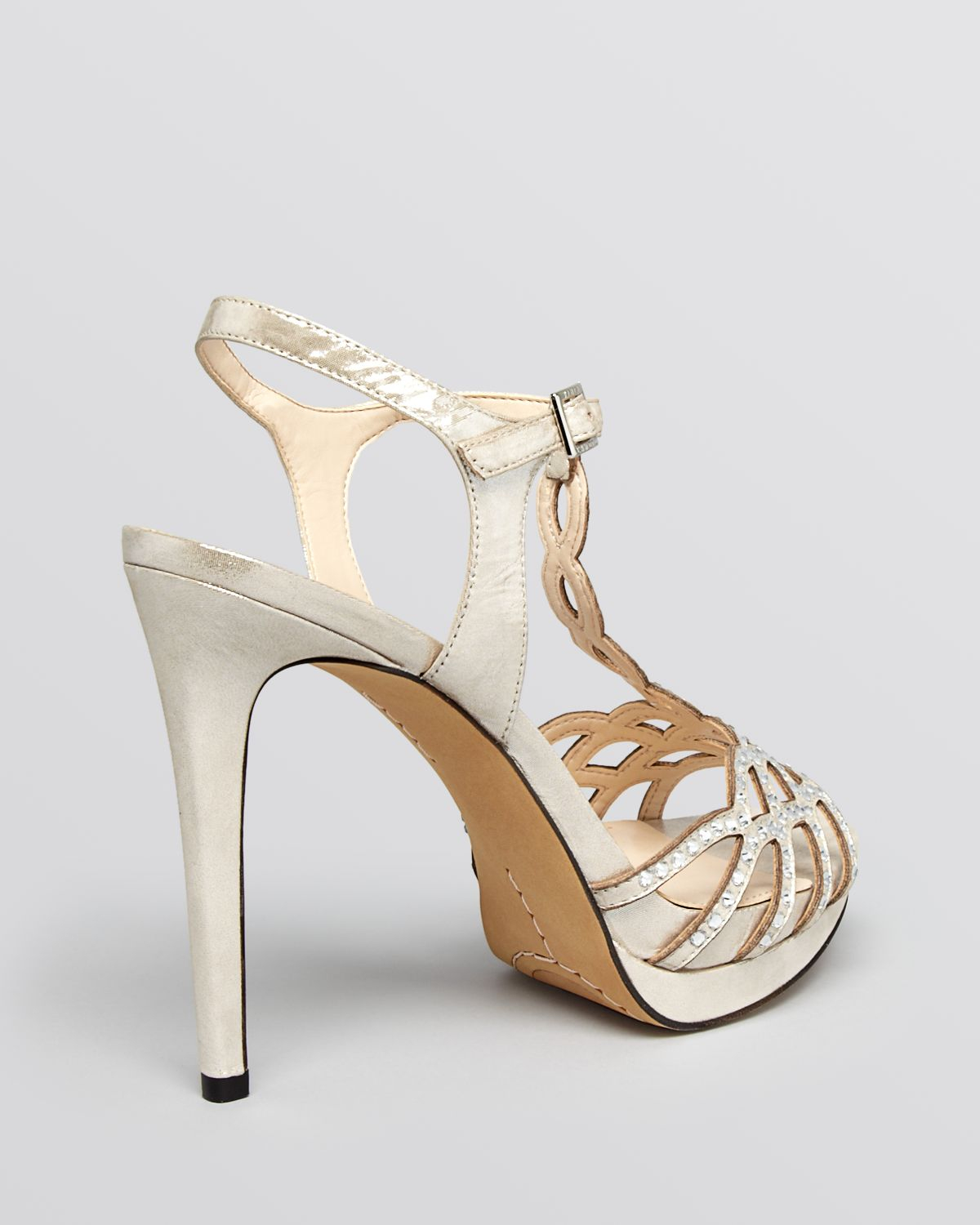 High Heel Sandals With Ankle Strap And Platform