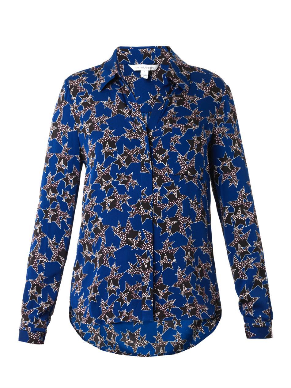 Diane von furstenberg shirt lyst for Diane von furstenberg shirt