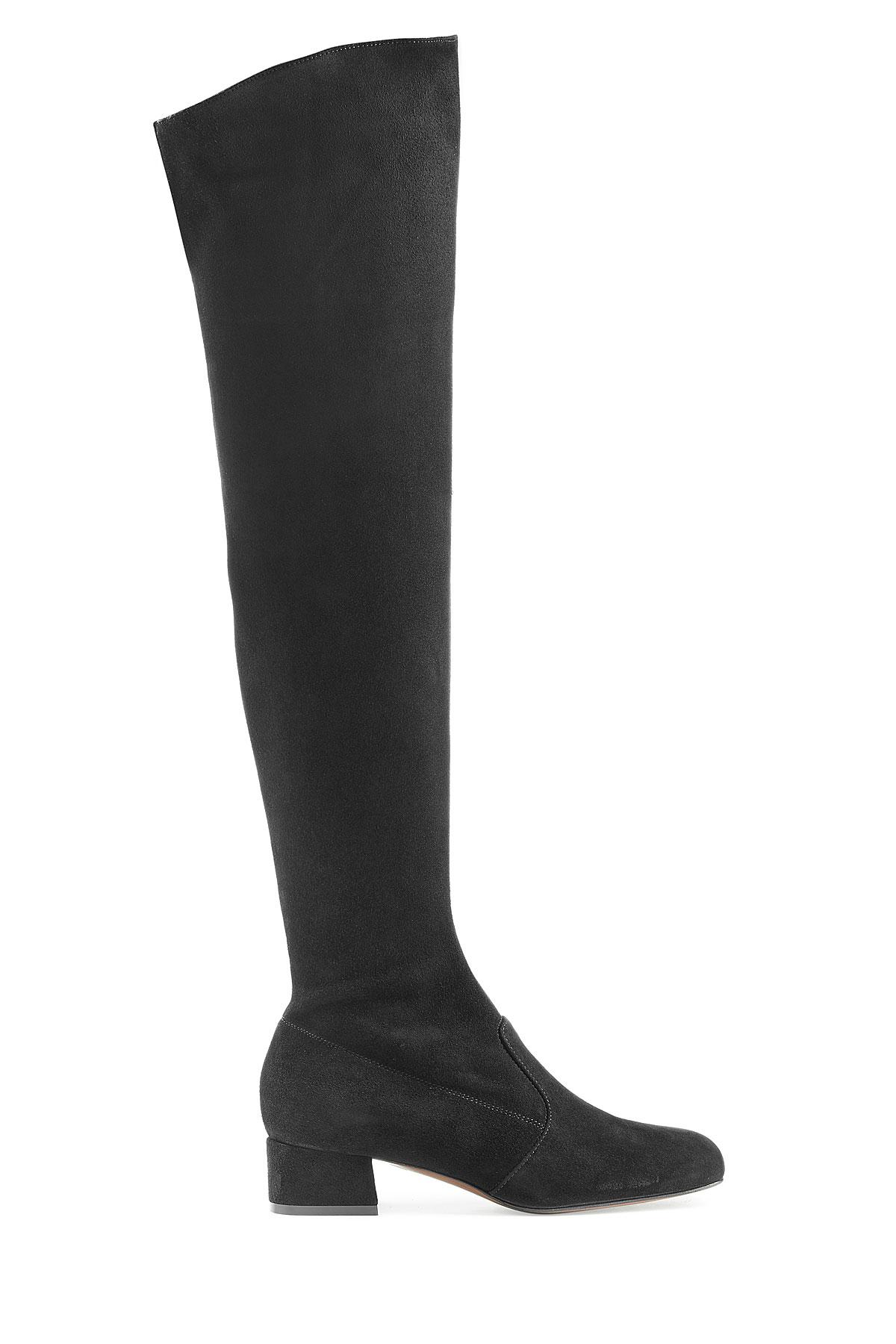 L\'autre chose Lautre Chose Over-the-knee Suede Boots - Black in ...