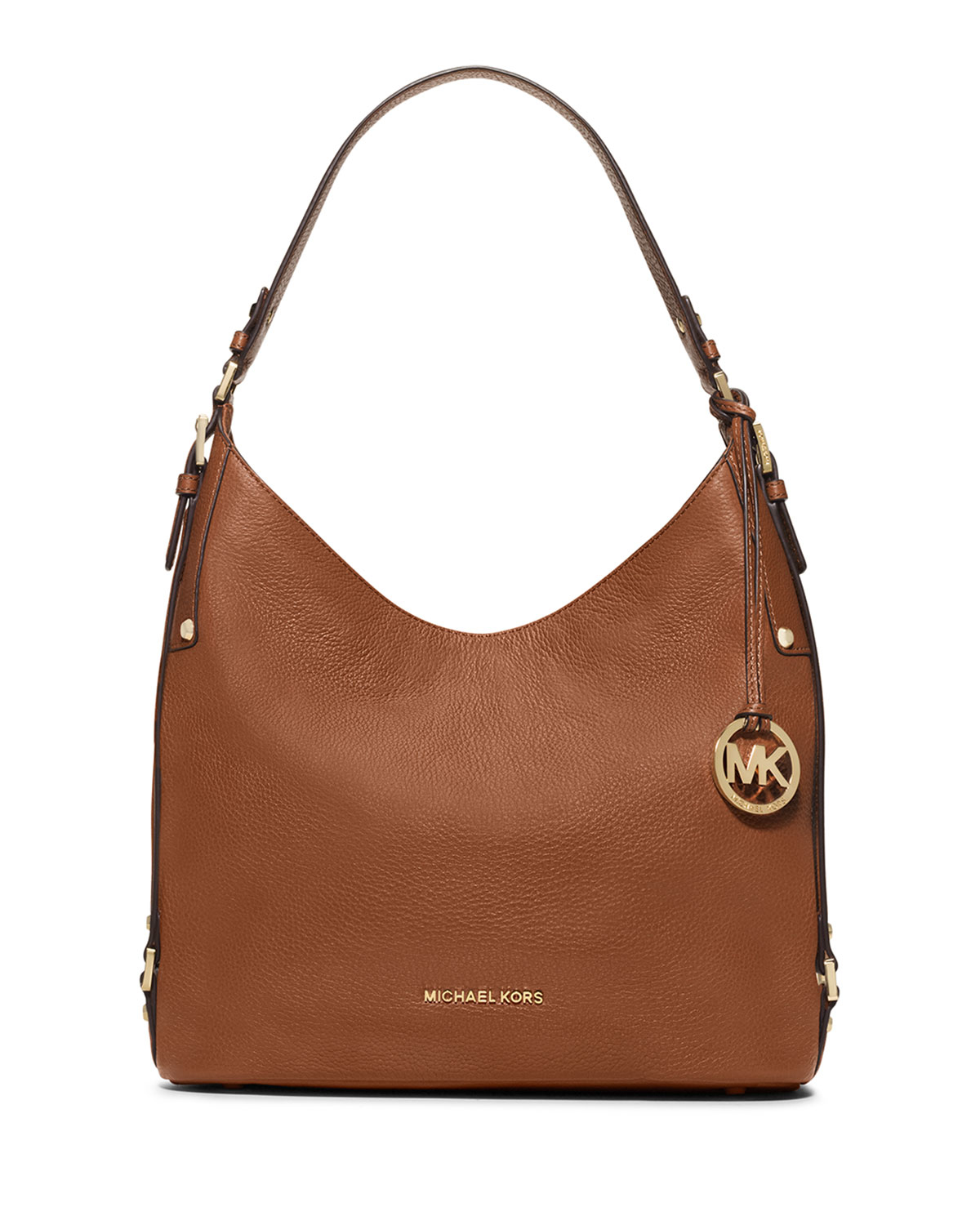 Michael michael kors Bedford Large Belted Shoulder Bag in Brown | Lyst