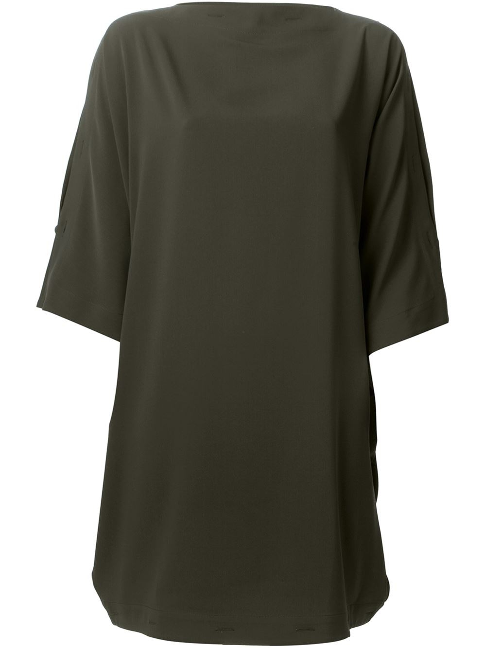 Mm6 by maison martin margiela button detail dress in green for Mm6 maison margiela
