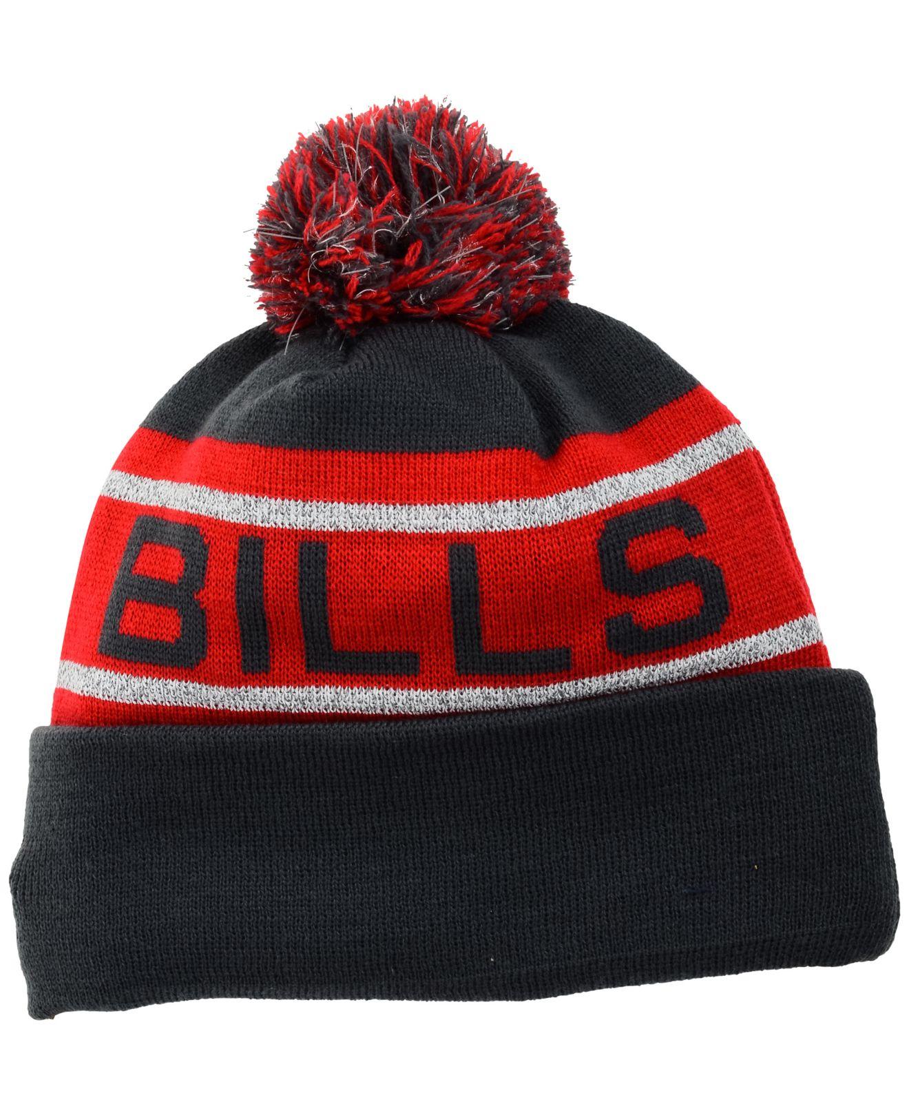 15eb9dfe9 Men s Buffalo Bills New Era Red Solid Cuffed Knit Hat