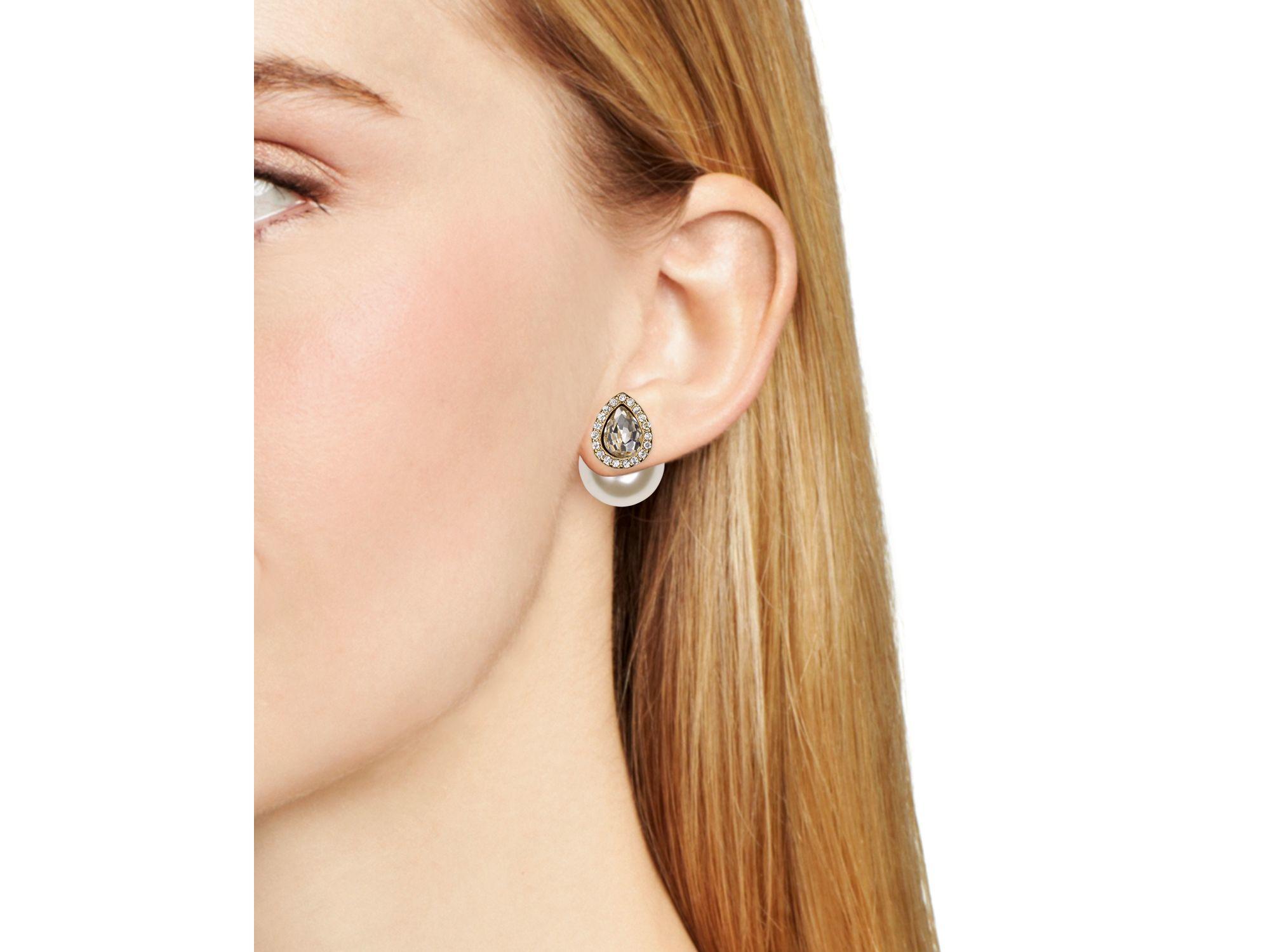 Womens Pearl Stud Earrings Kenneth Jay Lane IAkqVI7G