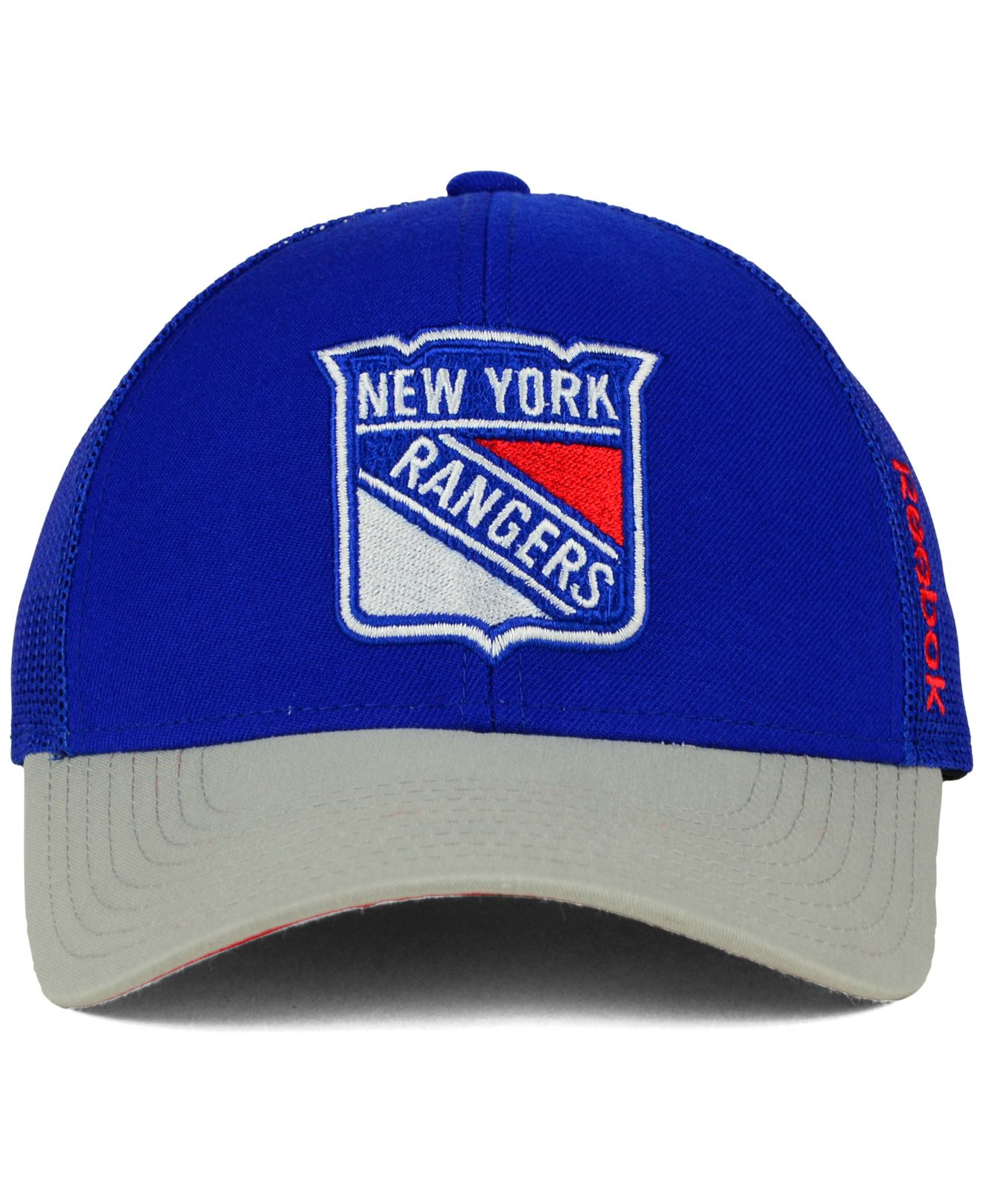 uk availability 7a1a7 904f0 ... discount code for lyst reebok new york rangers tnt adjustable cap in  blue for men 66dac