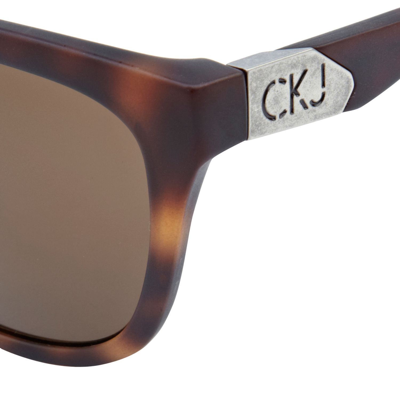 d3de395d1b River Island Brown Print Calvin Klein Jeans Sunglasses in Brown for ...