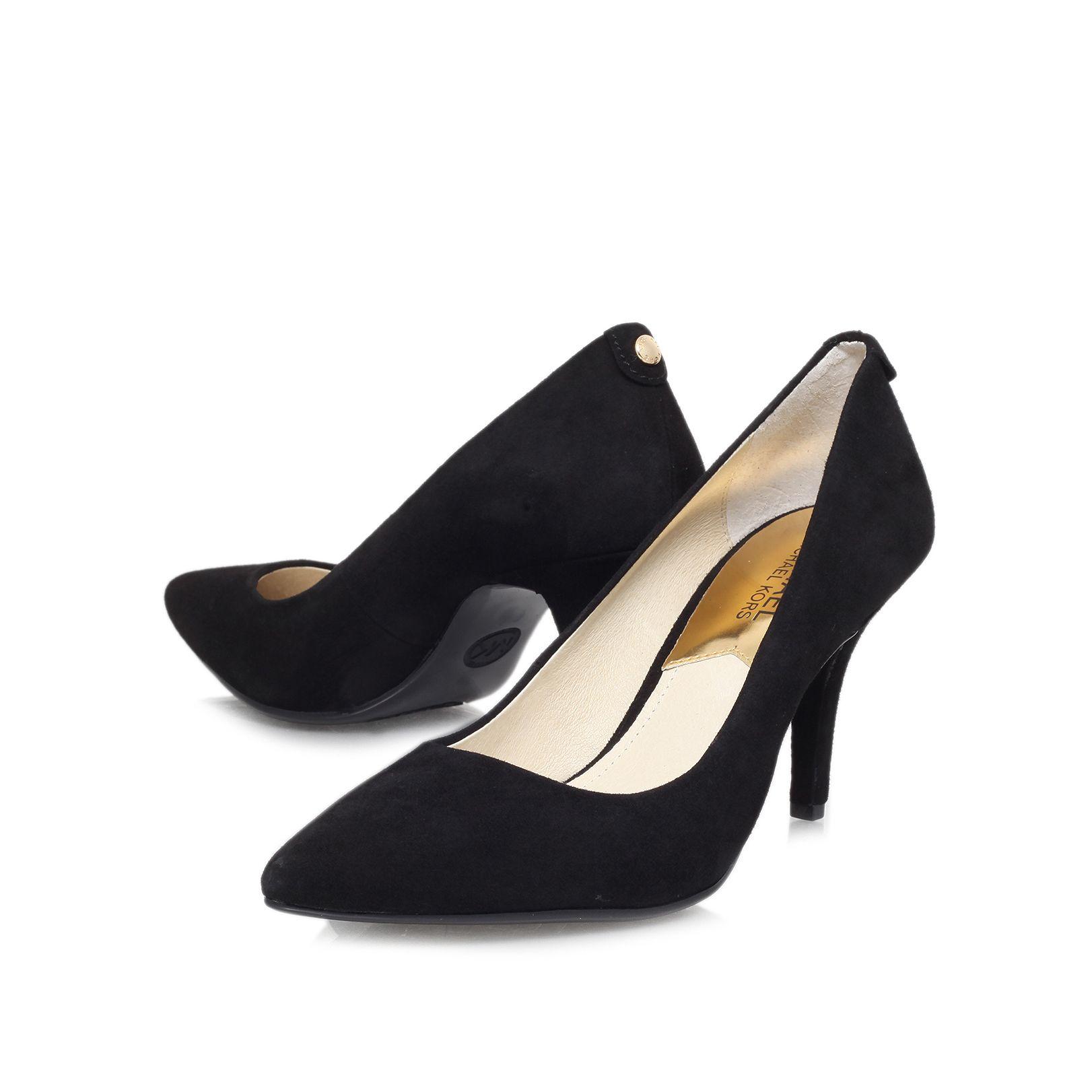michael kors mk flex high heel court shoes in black lyst. Black Bedroom Furniture Sets. Home Design Ideas