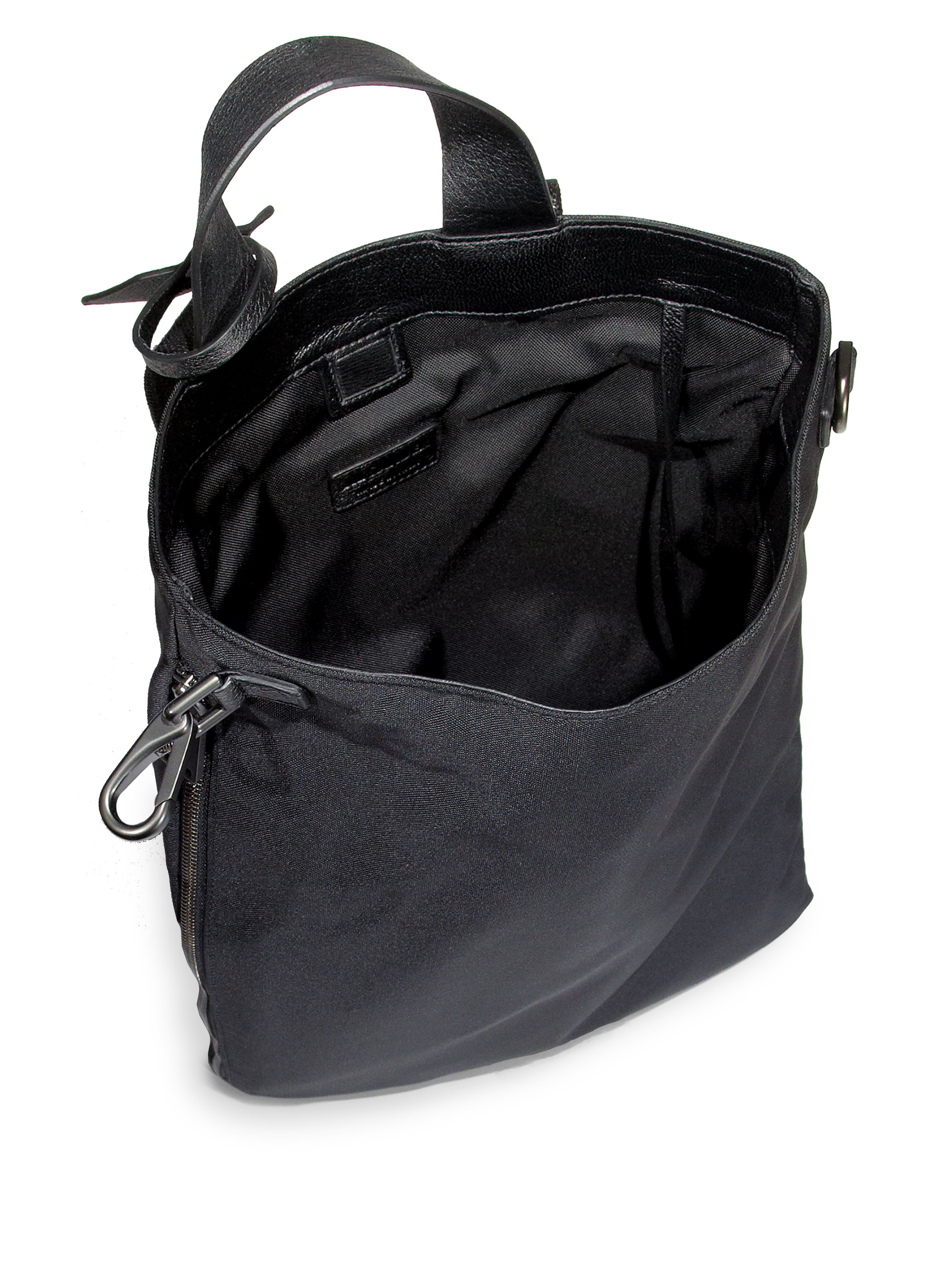 Lyst - Jil Sander Nylon Backpack in Black