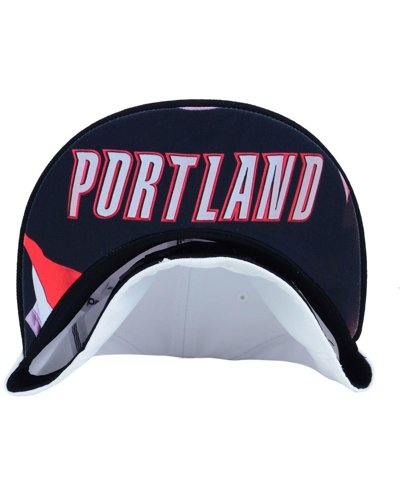 Portland Blkazer: Adidas Portland Trail Blazers Courtside Cap In White