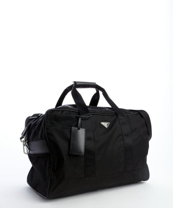 Prada Black Nylon Large Weekend Bag in Black for Men | Lyst