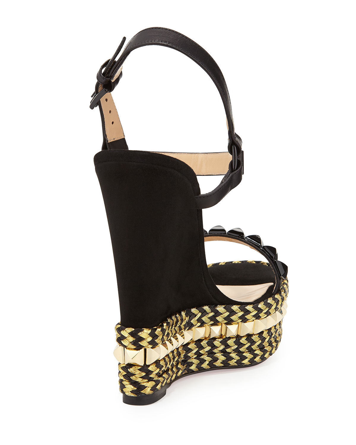 christian louboutin espadrille wedges Black suede | cosmetics ...