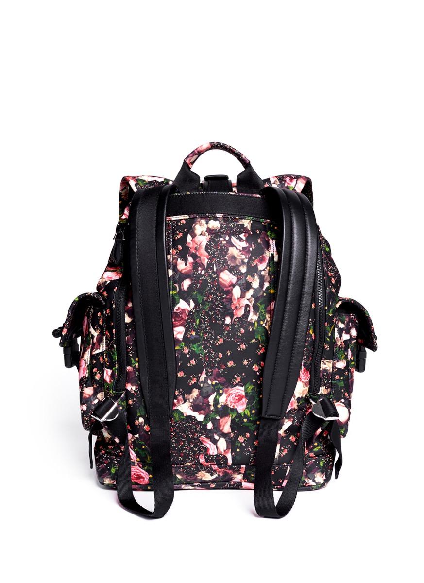 Floral Leather Backpack - Crazy Backpacks