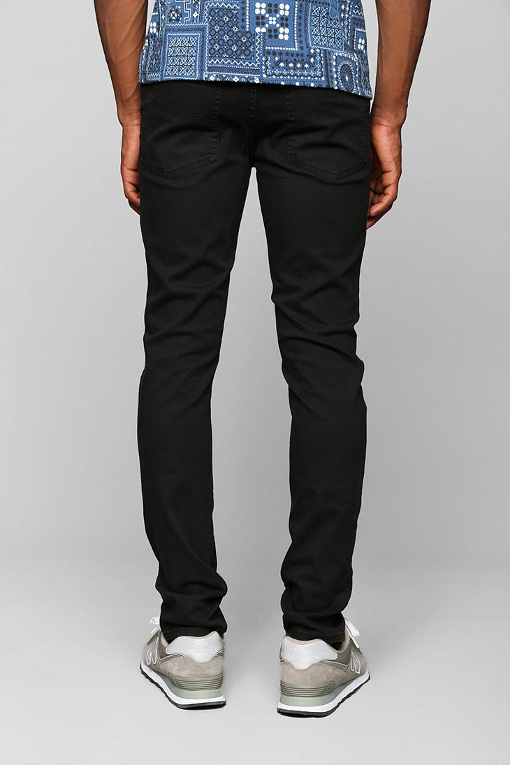 Cheap monday Tight Stretch Black Skinny Jean in Black for Men | Lyst