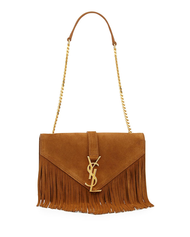 91e486beff8a Saint Laurent Suede Shoulder Bag