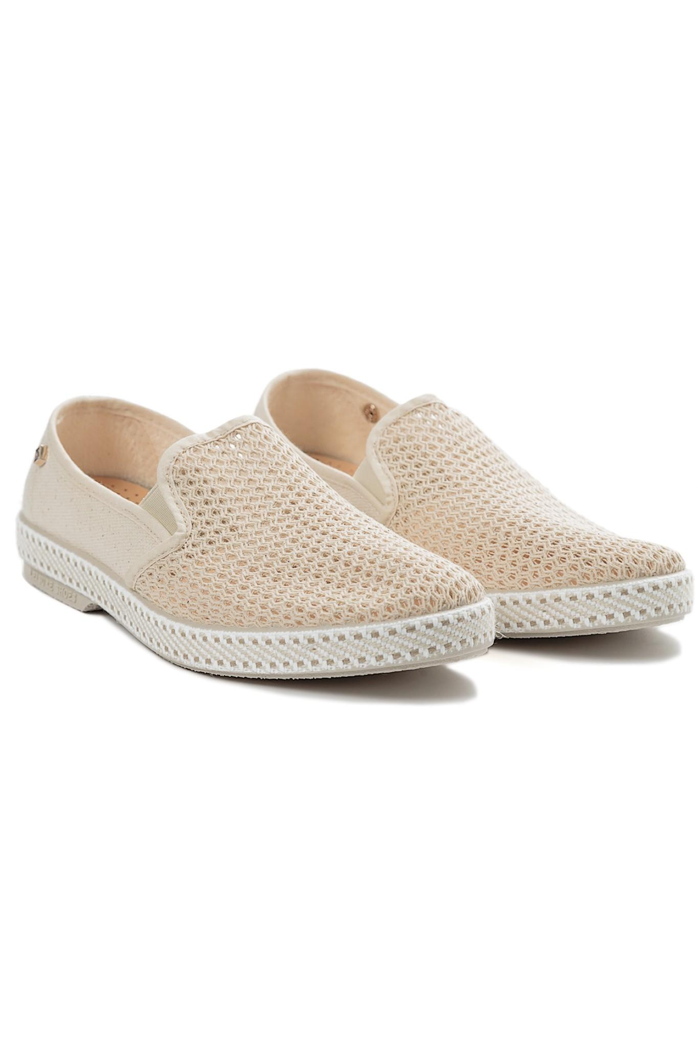 rivieras slip on sneakers in beige lyst