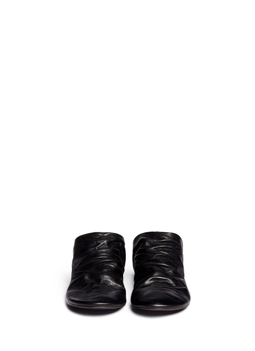Marsèll Distressed Leather Backless Slip-ons in Black for ...