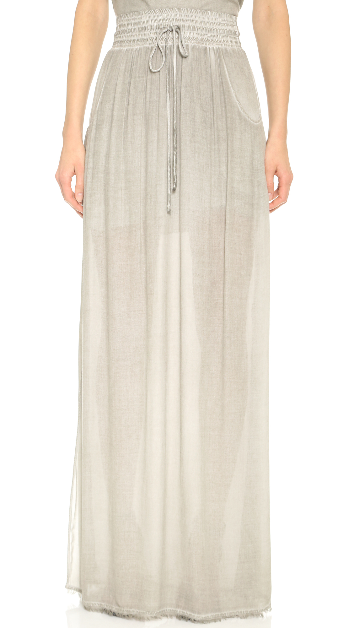 ronny kobo dom maxi skirt grey in gray