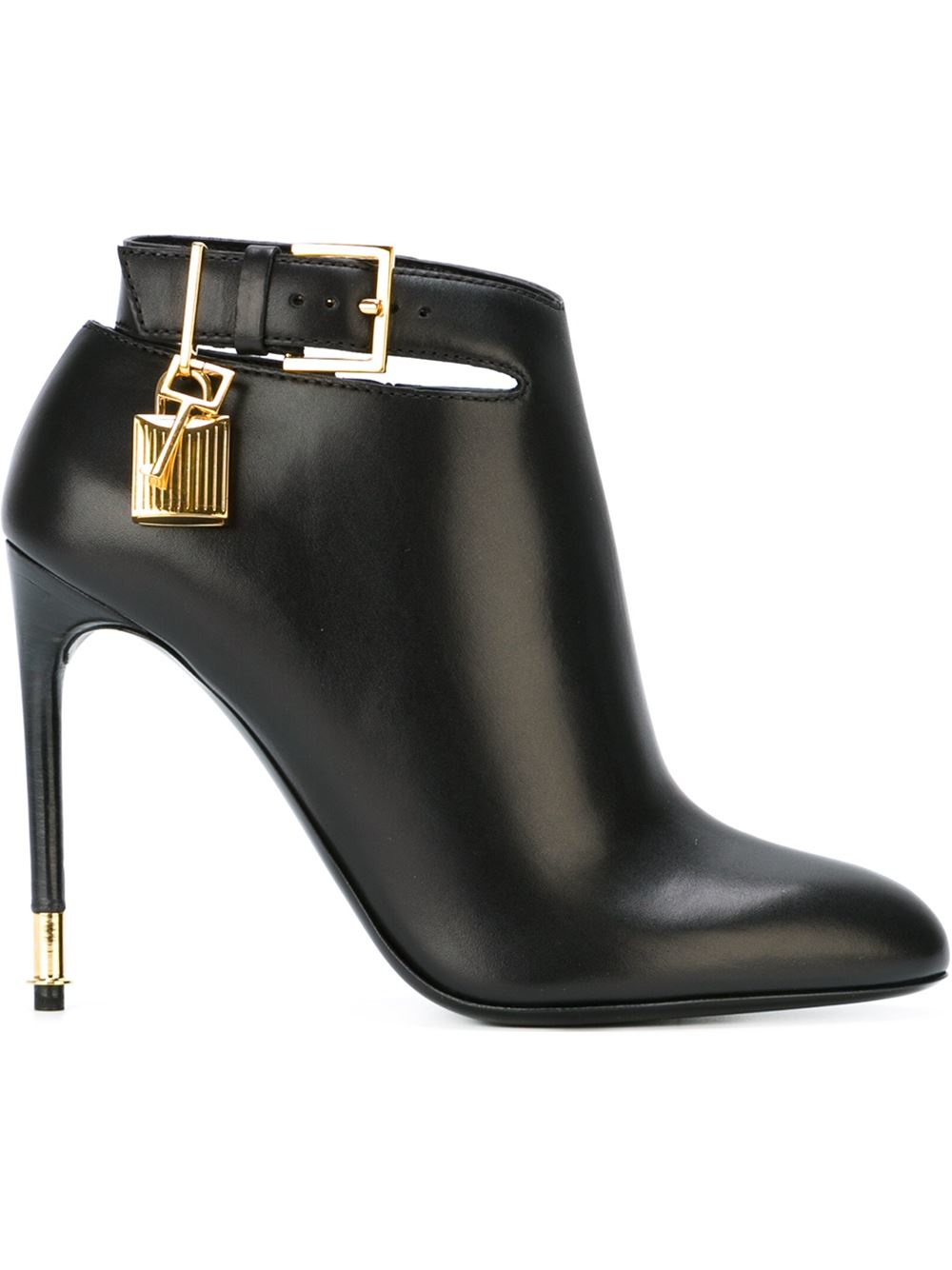 tom ford padlock charm stiletto boots in black lyst