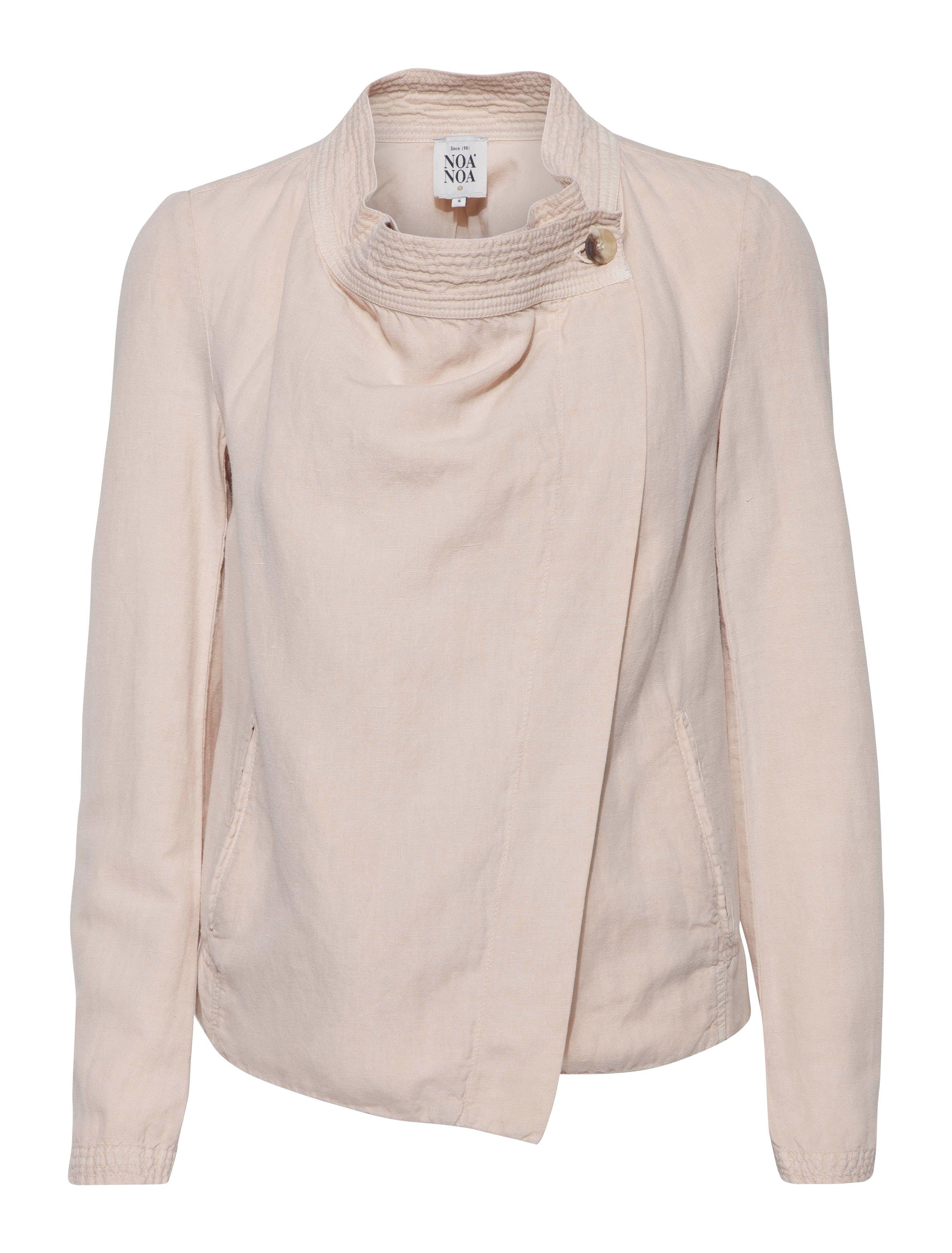Noa noa Washed Linen Jacket Long Sleeve in Natural