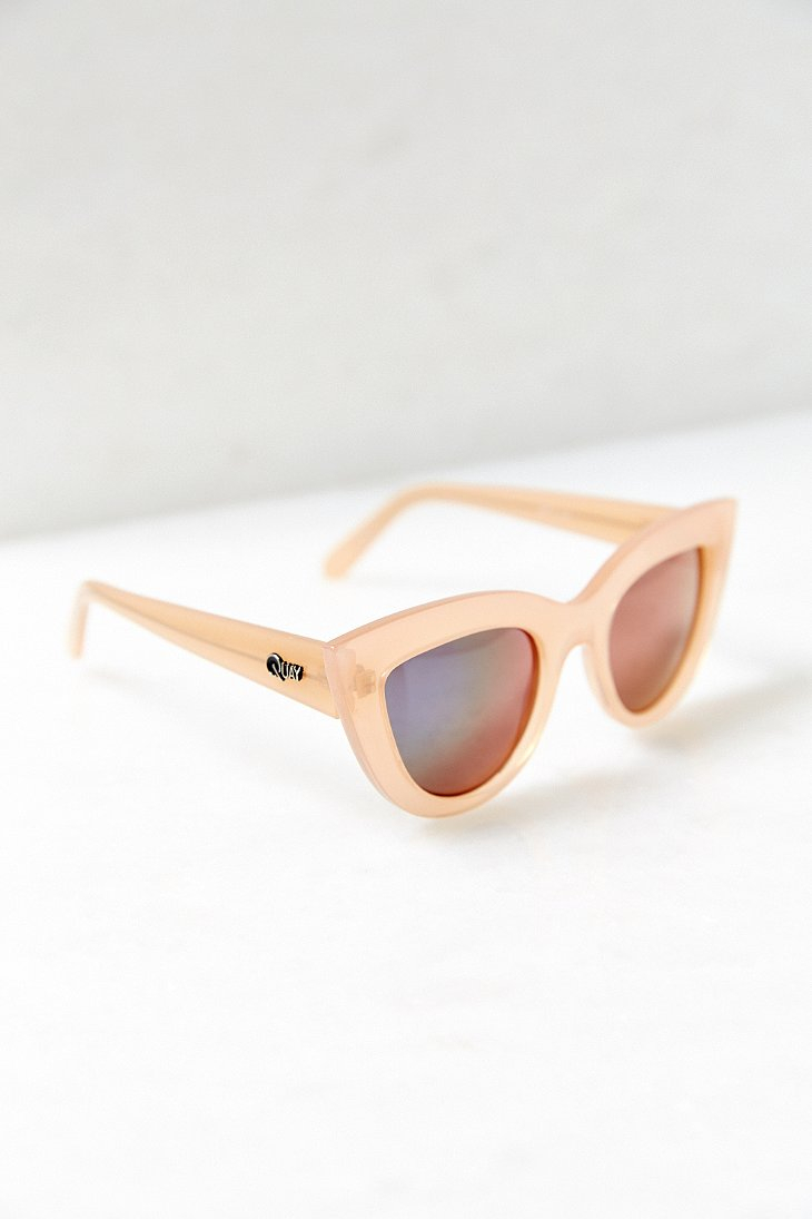 62ca03ff6dac6 Quay Kittie Cat-eye Sunglasses in Natural - Lyst