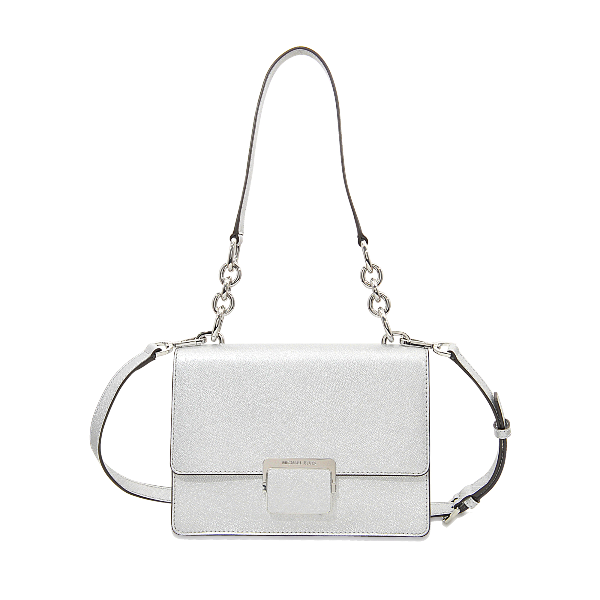Michael michael kors Cynthia Small Shoulder Bag in White | Lyst