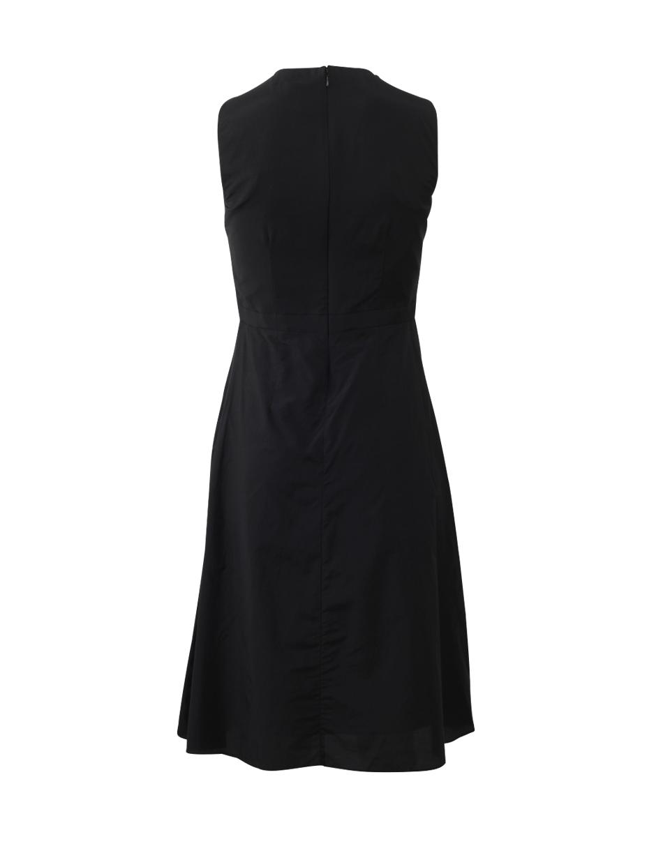 e64b1f4b55 Lyst - Carven Black Cotton Blend Dress With Criss Cross Neck in Black