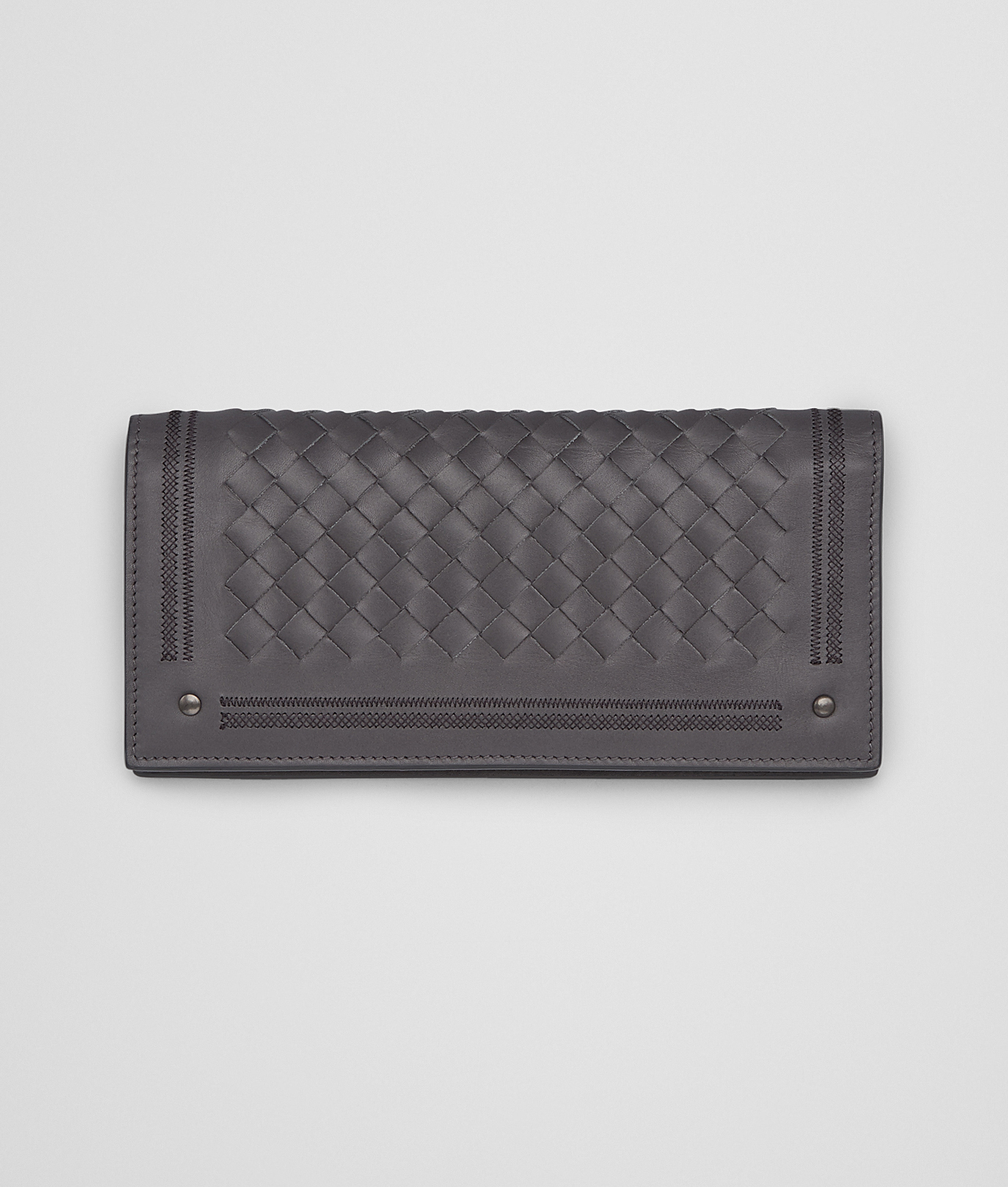 30dad696dbbd Bottega Veneta Medium Grey Nero Intrecciato New Calf .