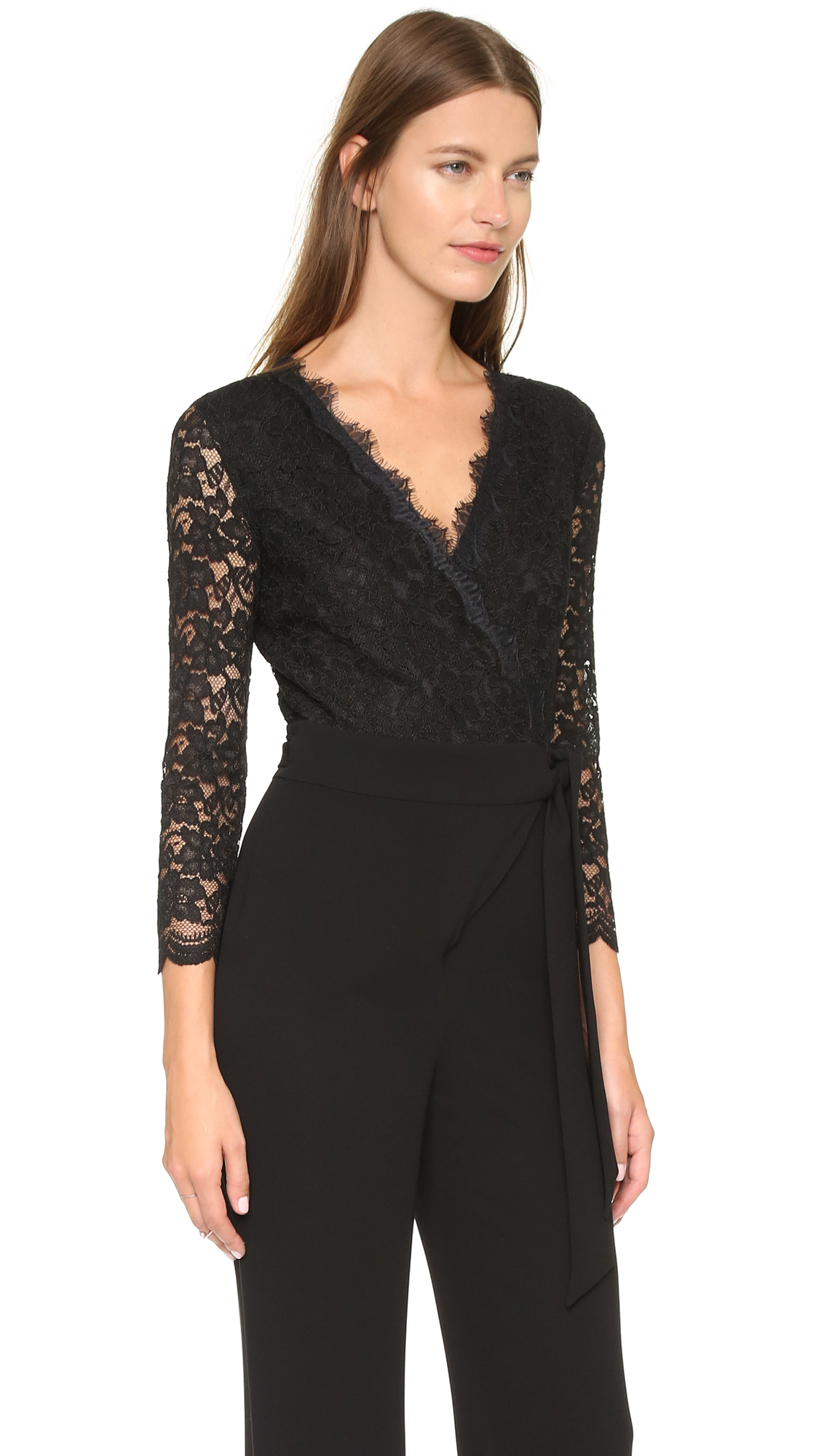 Lyst Diane Von Furstenberg Dvf Marlow Jumpsuit In Black