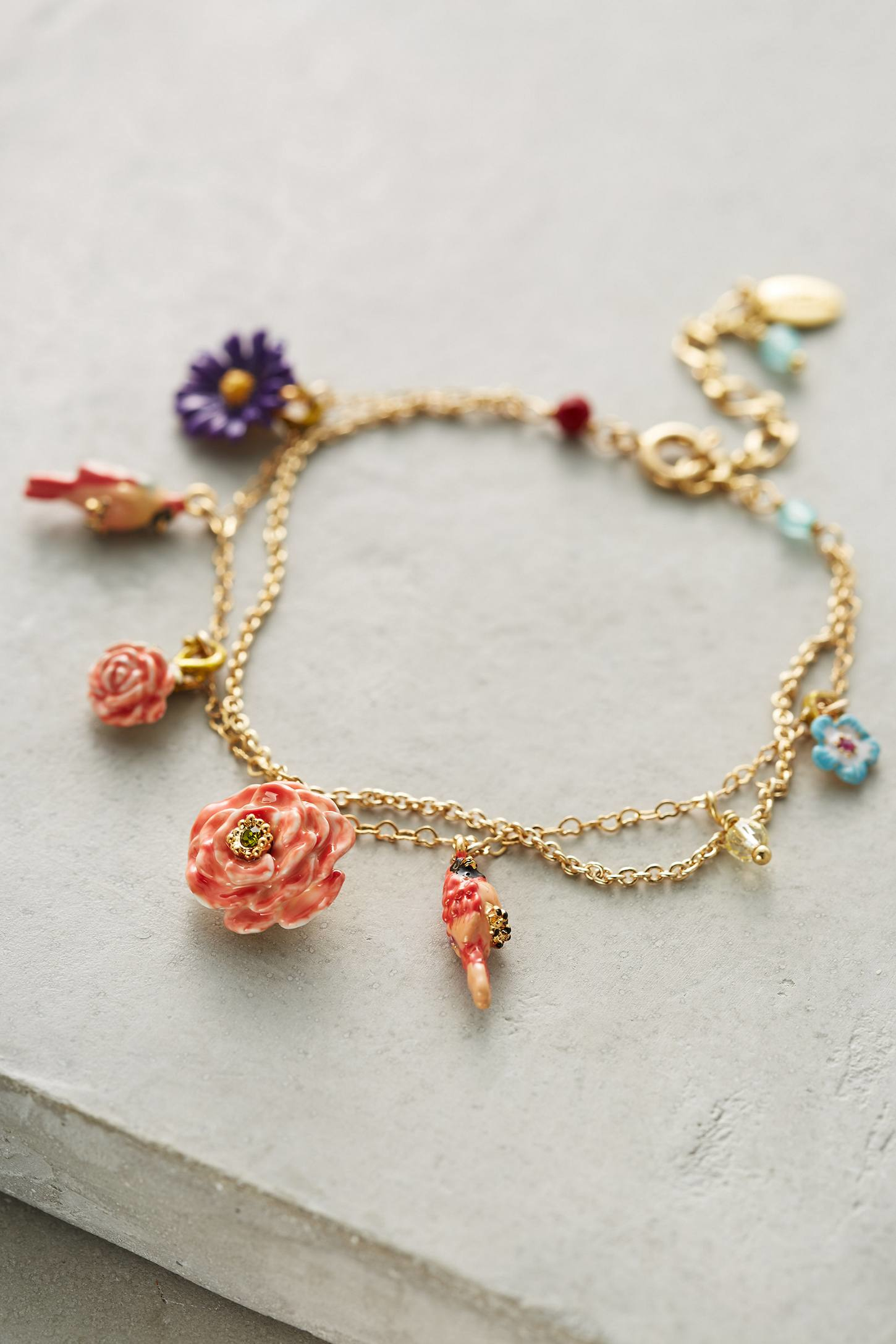 les nereides jardin charm bracelet in metallic lyst