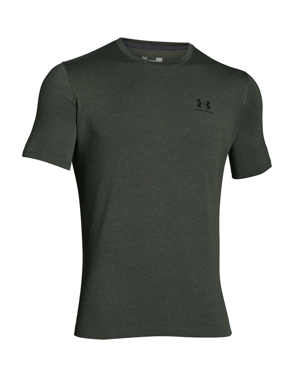Under armour charged cotton sportstyle t shirt in gray for for Gray under armour shirt