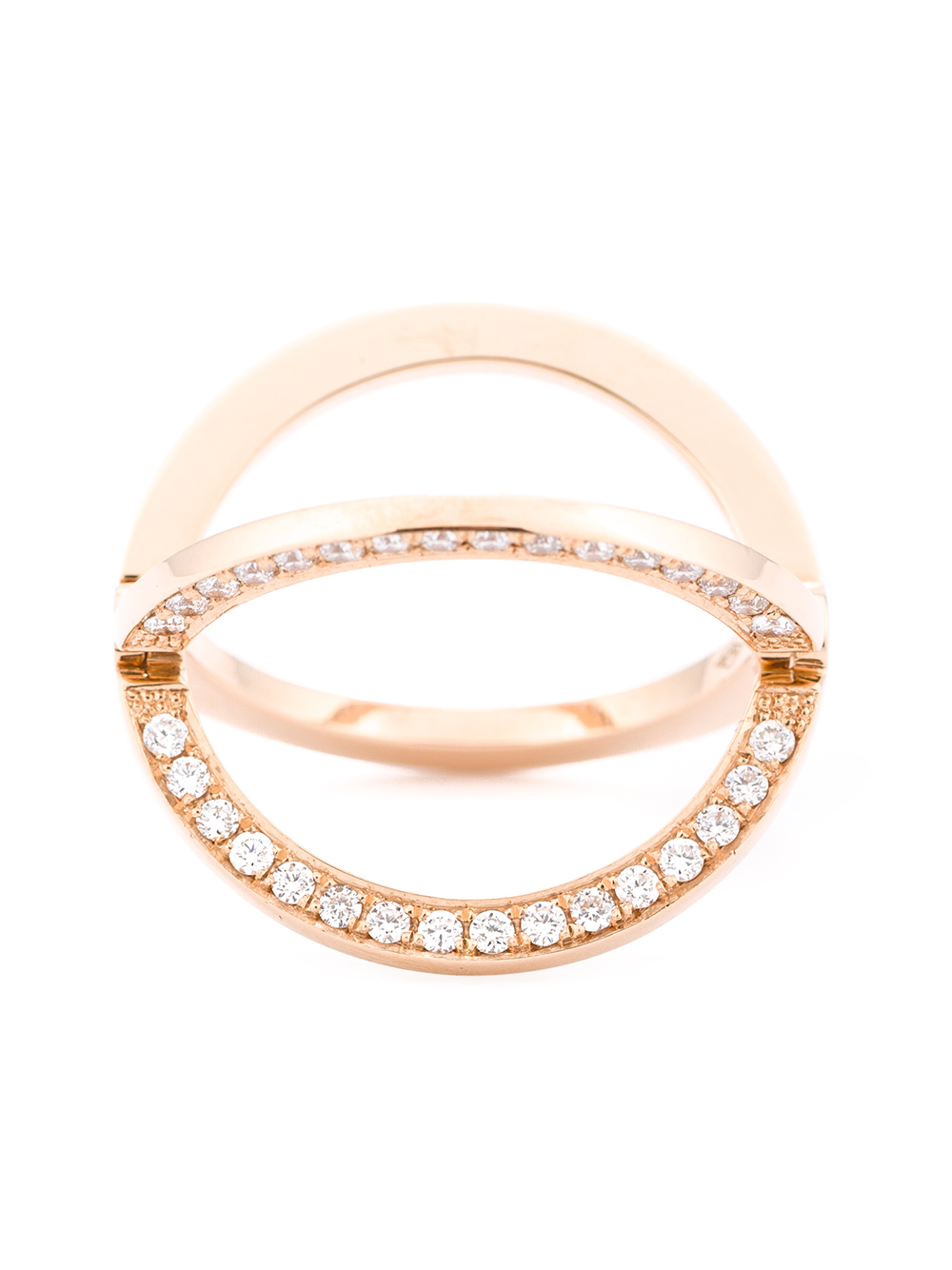 Kim Mee Hye Twisted Gold and Diamond Ring - Pink & Purple 4sVn3i7D