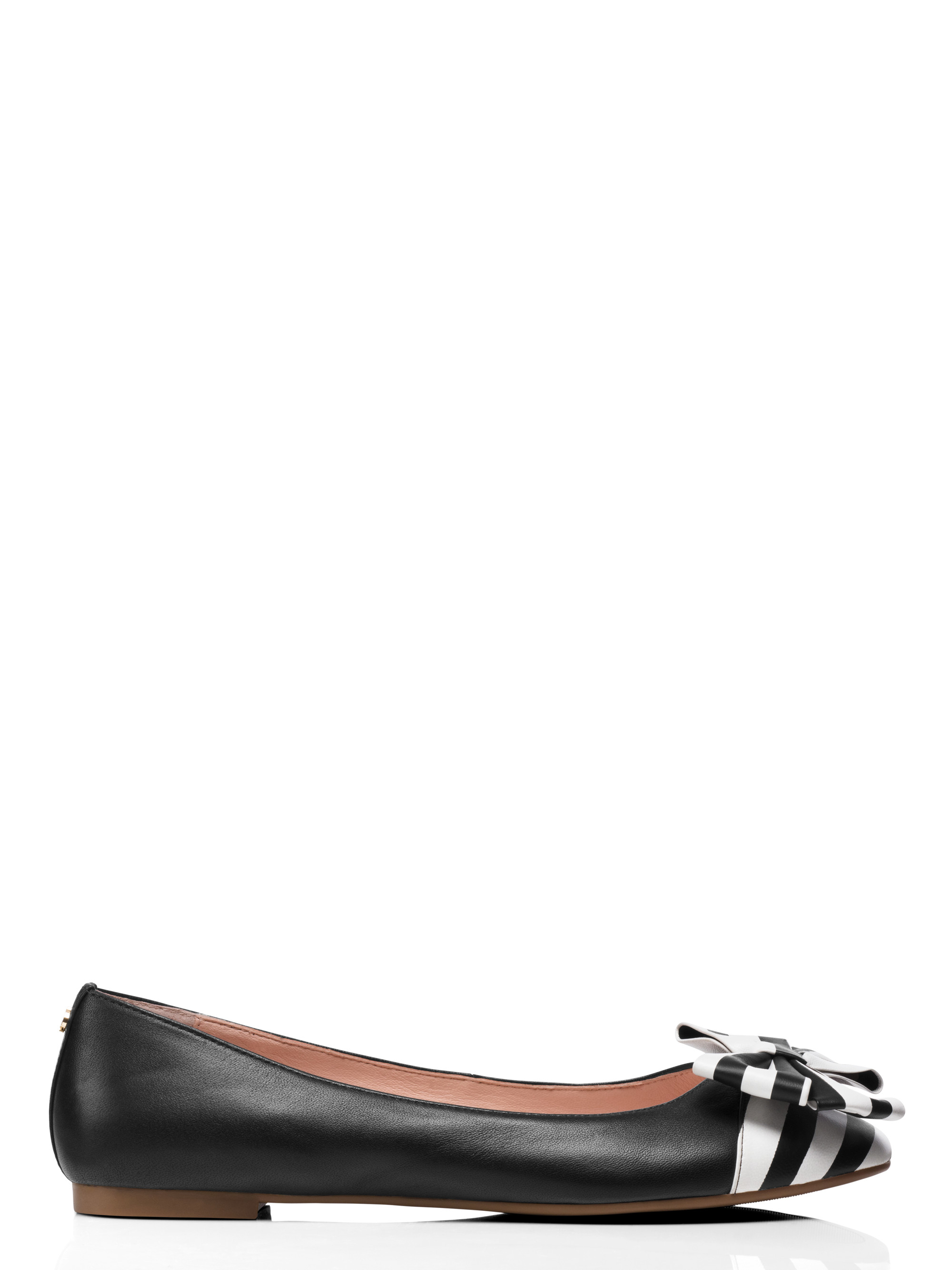 Kate spade new york wallace flats in black lyst for Kate spade new york flats