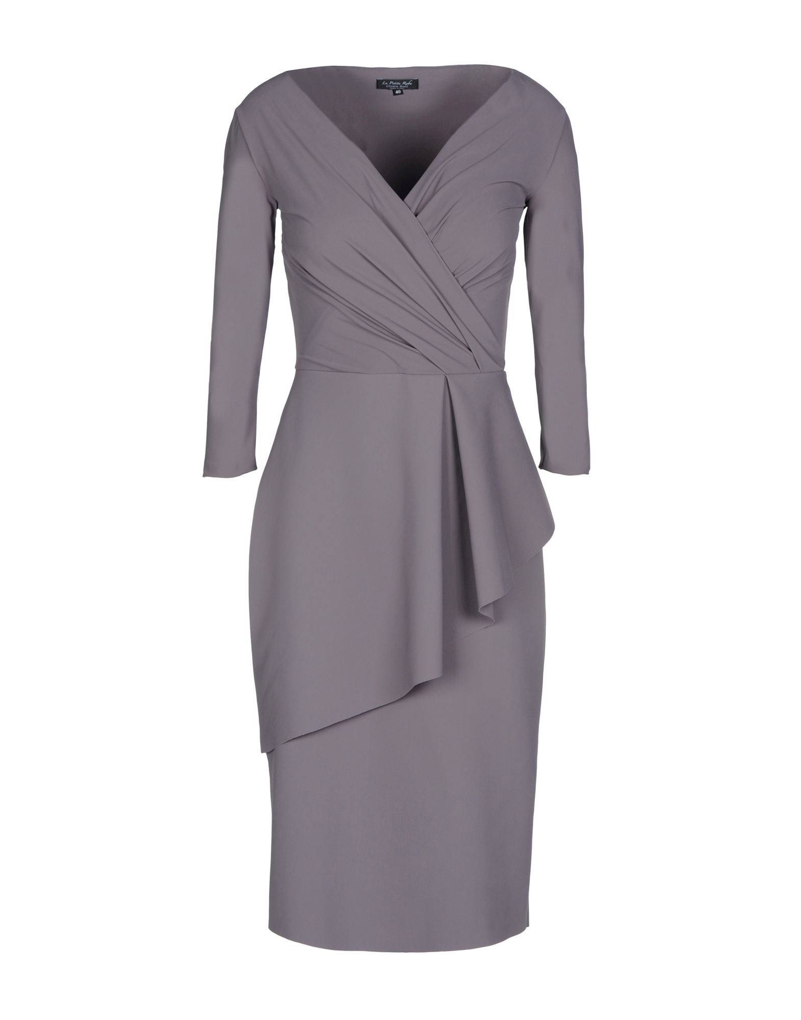 la petite robe di chiara boni fitted stretch crepe dress in gray lyst. Black Bedroom Furniture Sets. Home Design Ideas