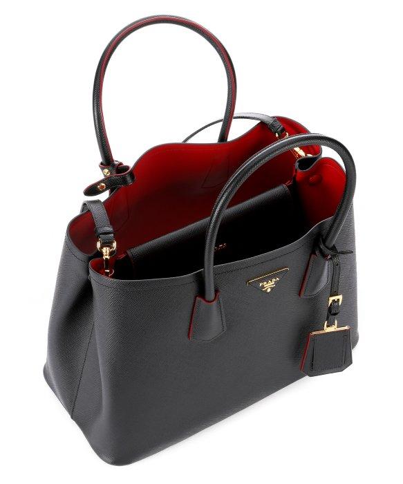 1a547dff63 ... canada lyst prada black saffiano leather convertible tote in black  ffb96 3cbb3