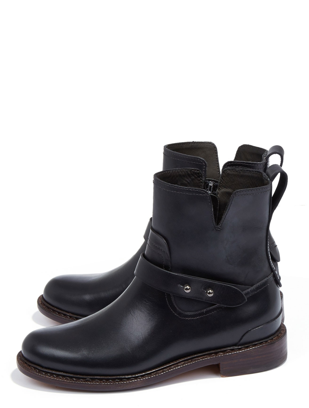 rag bone leather ashford moto boot in black lyst