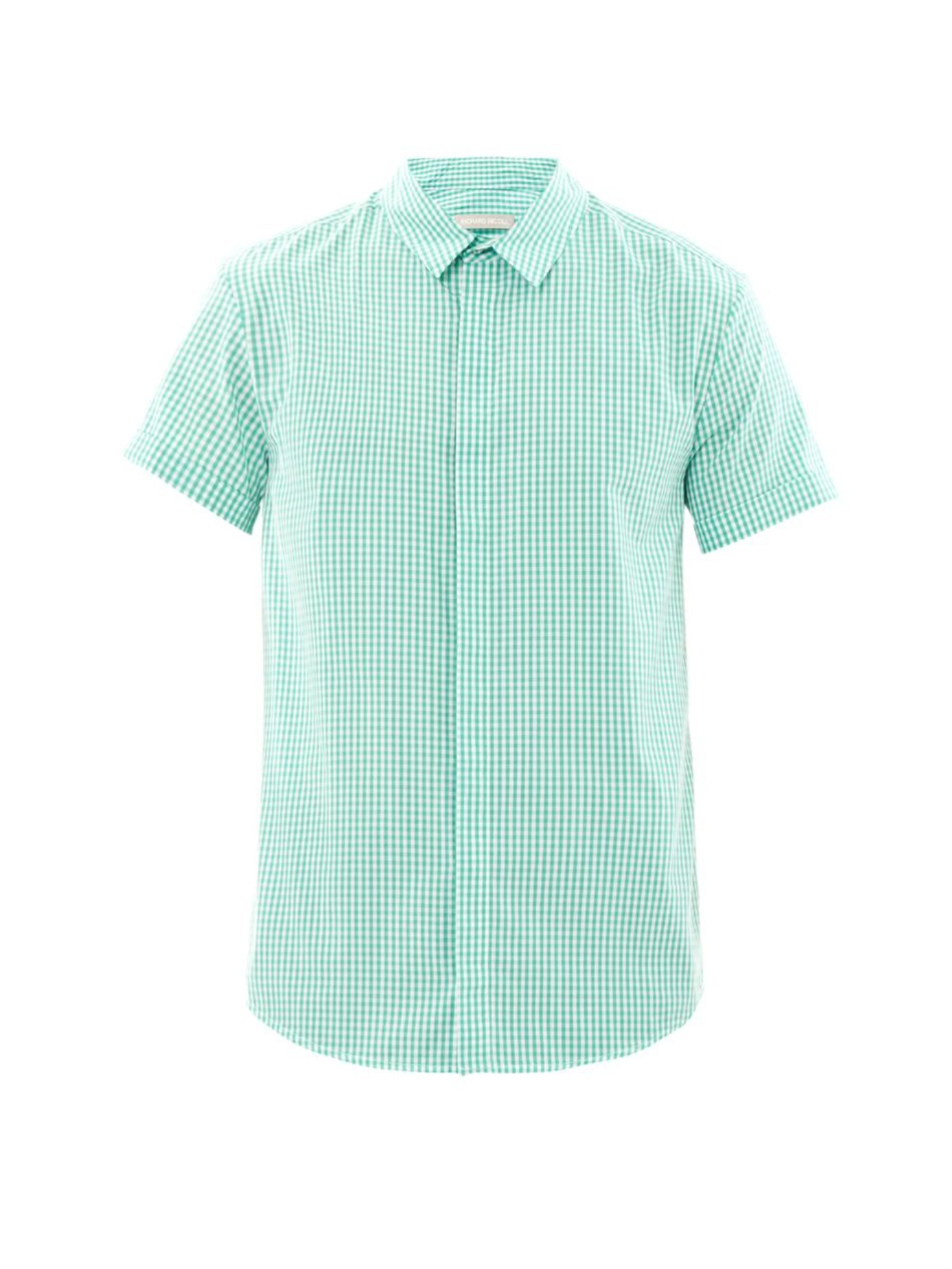 Lyst Richard Nicoll Gingham Short Sleeved Shirt In Green