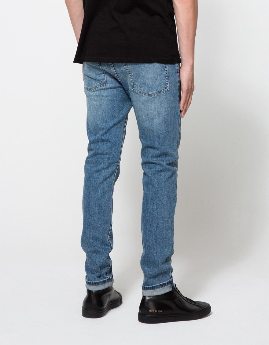 Mens Sonic Daily Blue Straight Jeans Cheap Monday