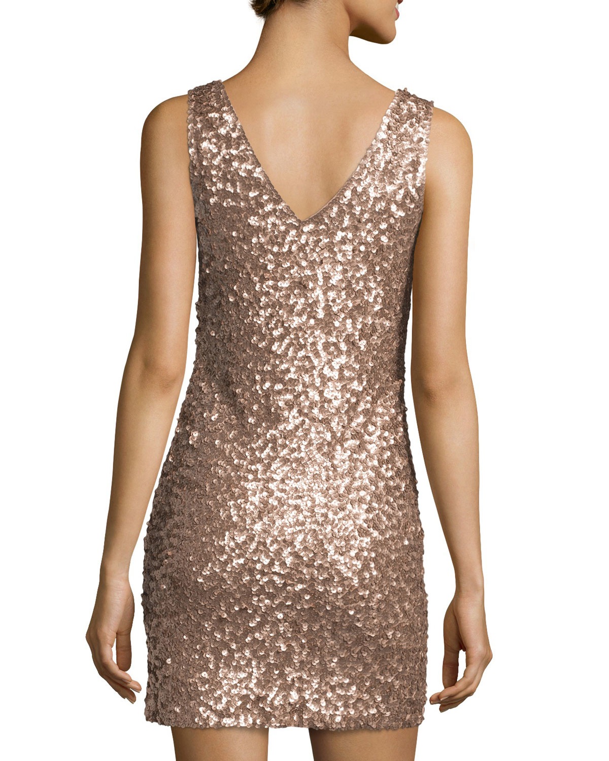 2756d64e Romeo and Juliet Couture Sleeveless Sequin Stretch Dress in Pink - Lyst