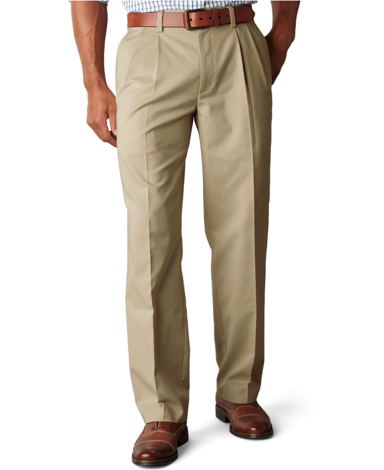 Excellent  And Tall Flat Front Khaki Pants In Green For Men Rifle Green  Lyst